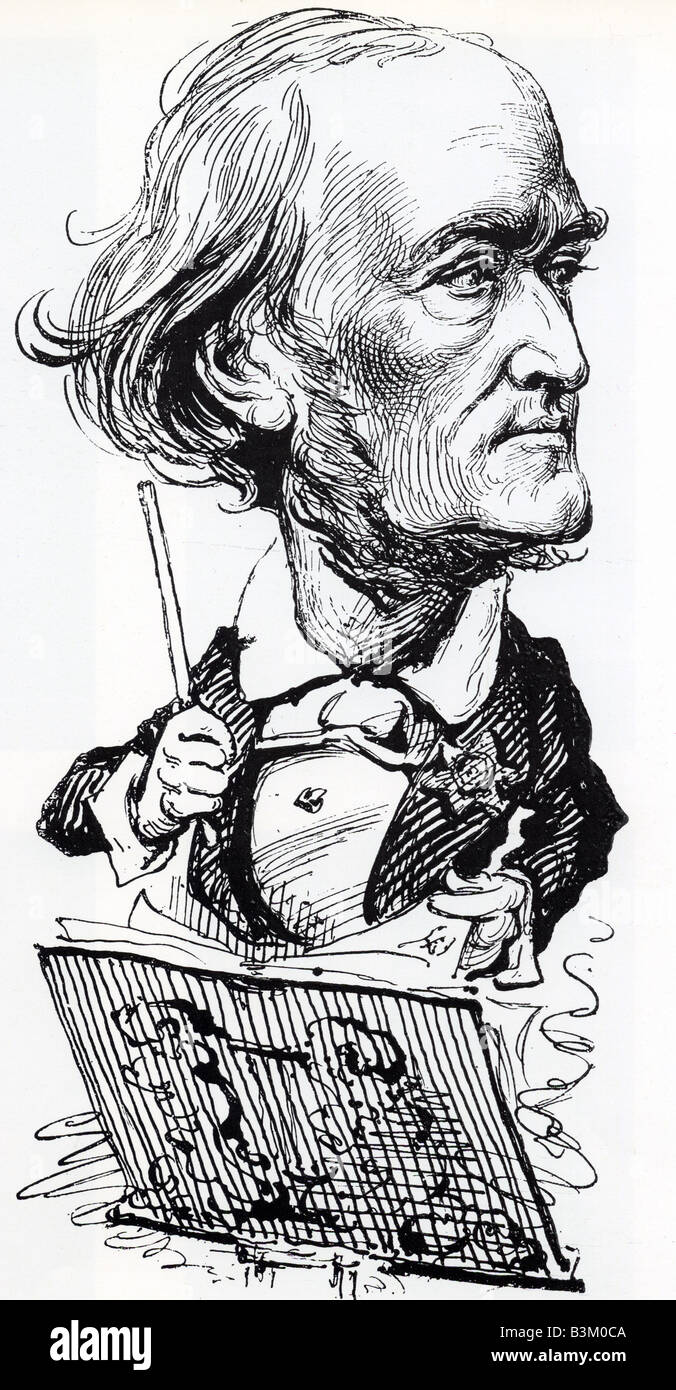 RICHARD WAGNER  German composer 1813 to 1883 - Stock Image
