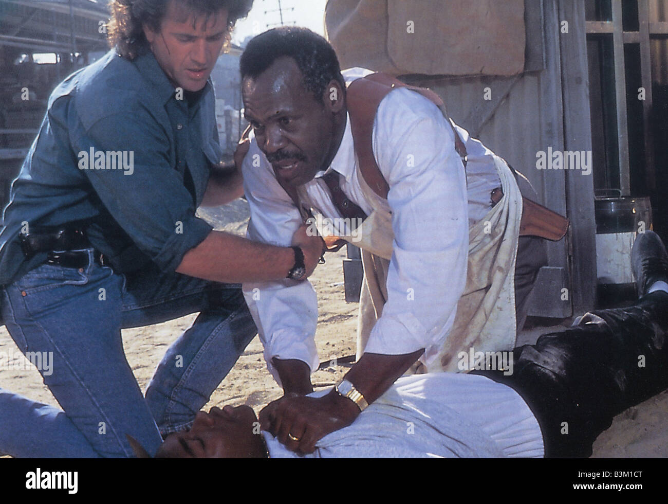 LETHAL WEAPON 3 - 1992 Warner film with Mel Gibson at left and Danny Glover - Stock Image