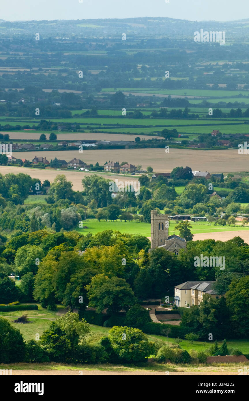 View of Ellesborough village from Coombe Hill - Stock Image