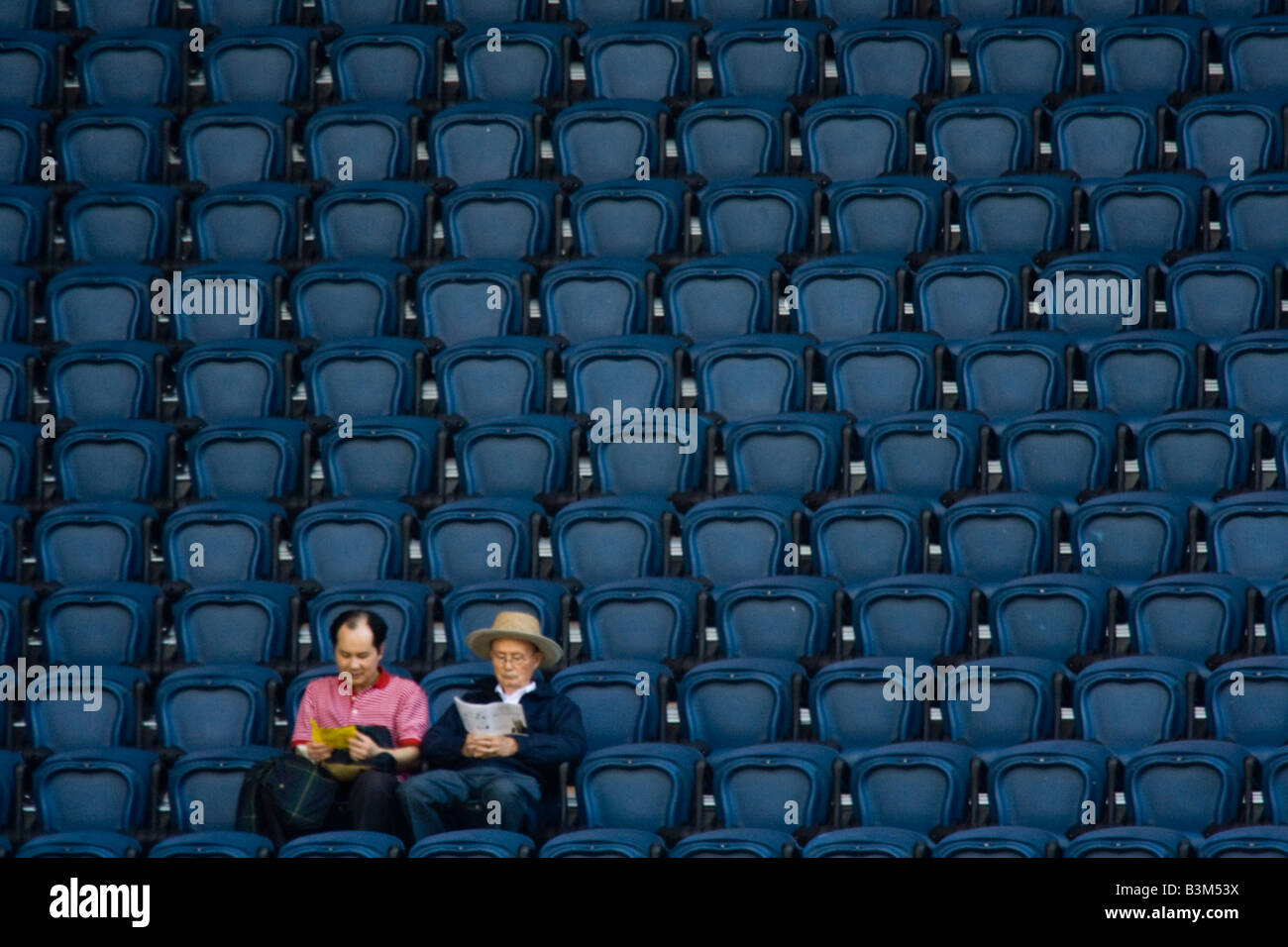 A few seats were empty at the Qwest Field during the main program at Quest Field organized for the Dalai Lama s - Stock Image