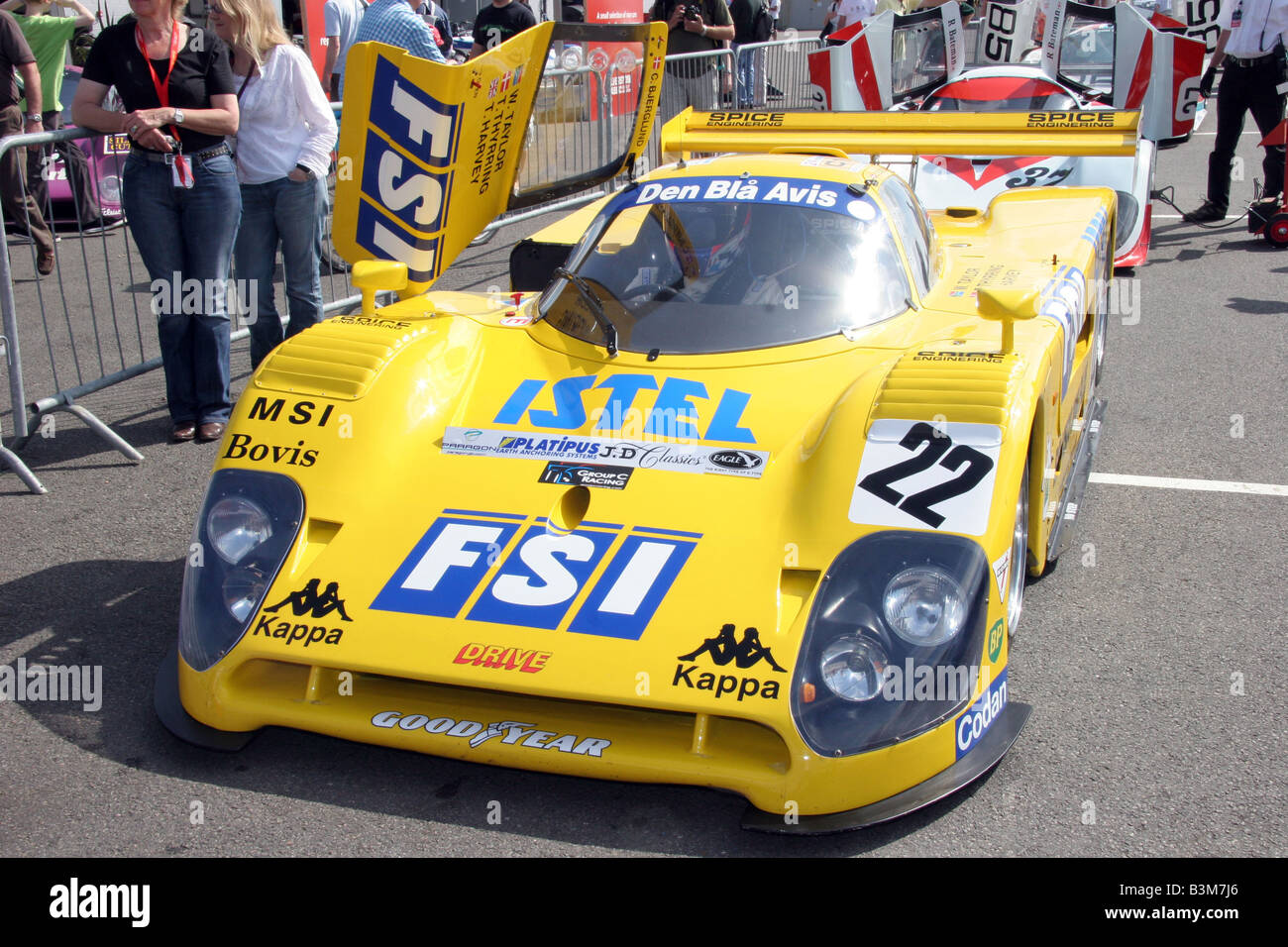No 22 A 1989 Yellow Fsi Spice Se89c A Group C Car 1985 90 In The
