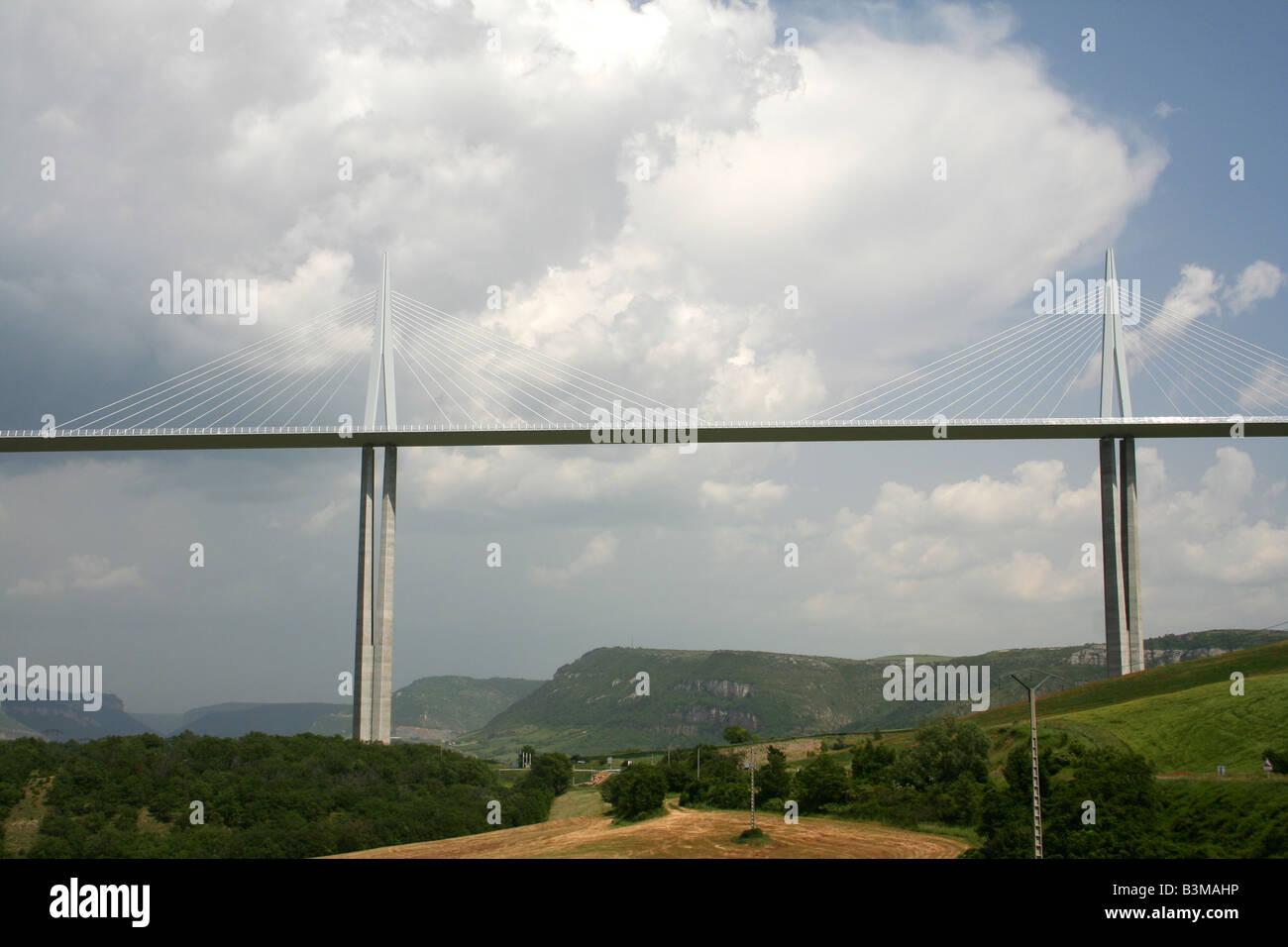 Millau bridge - Stock Image