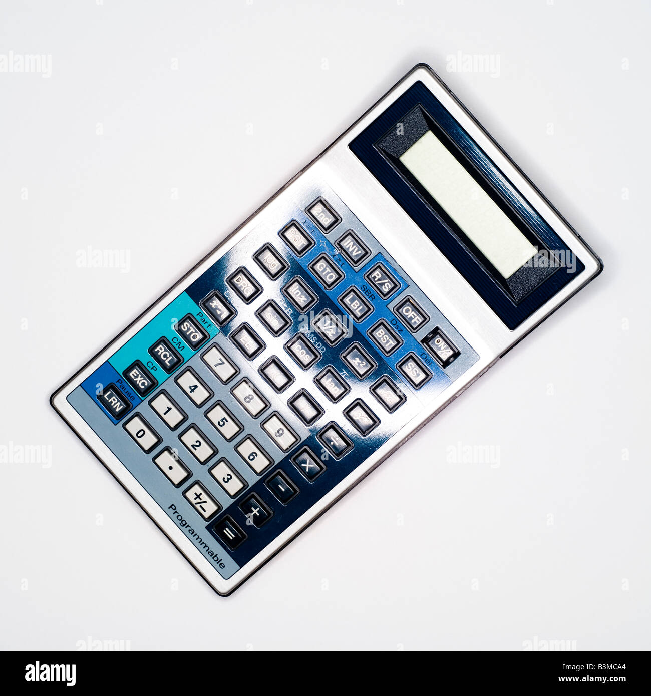 Calculator, elevated view - Stock Image