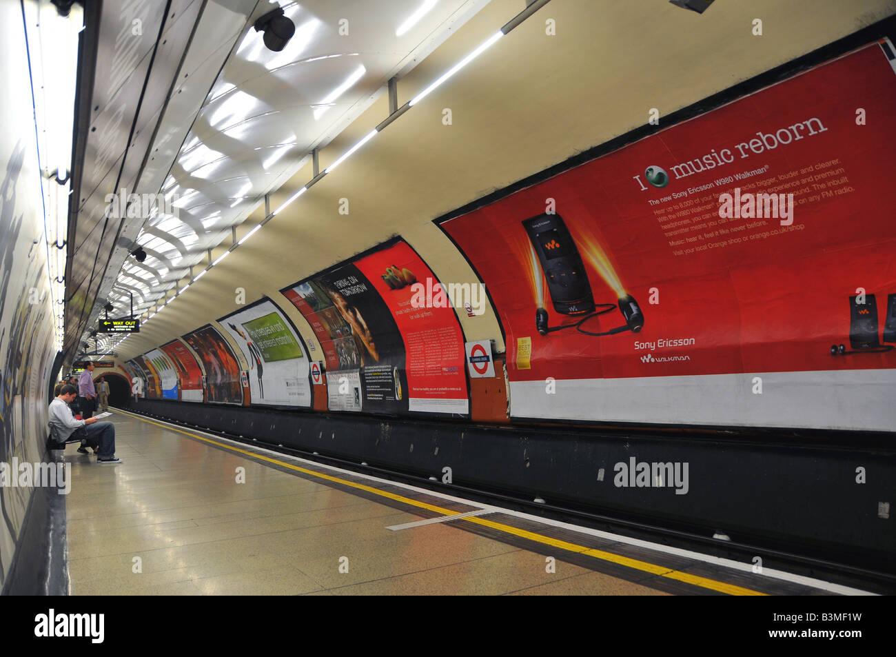Charing Cross tube station, London, England - Stock Image