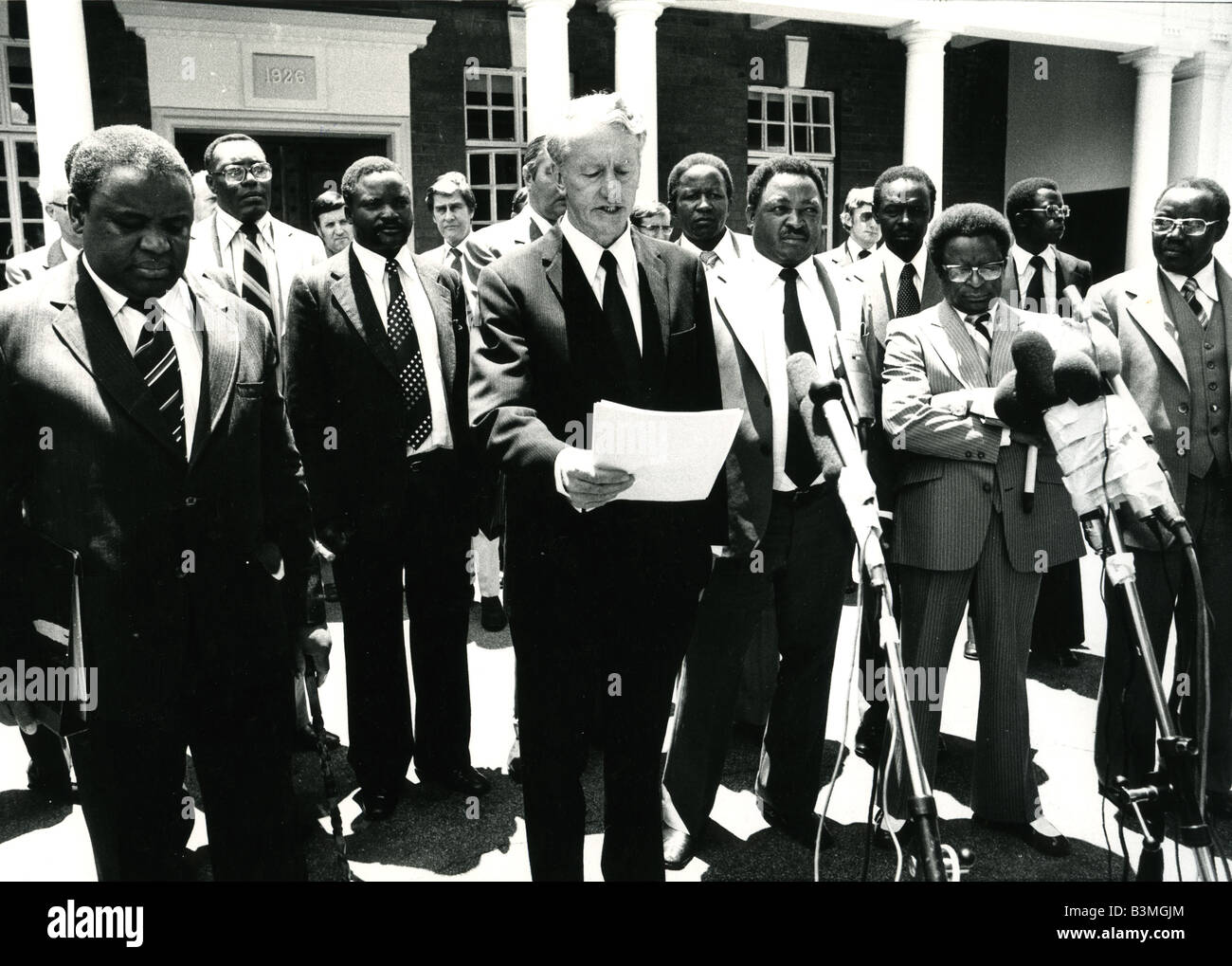 IAN SMITH  Announces an internal settlement for Southern Rhodesia in 1979 - Stock Image