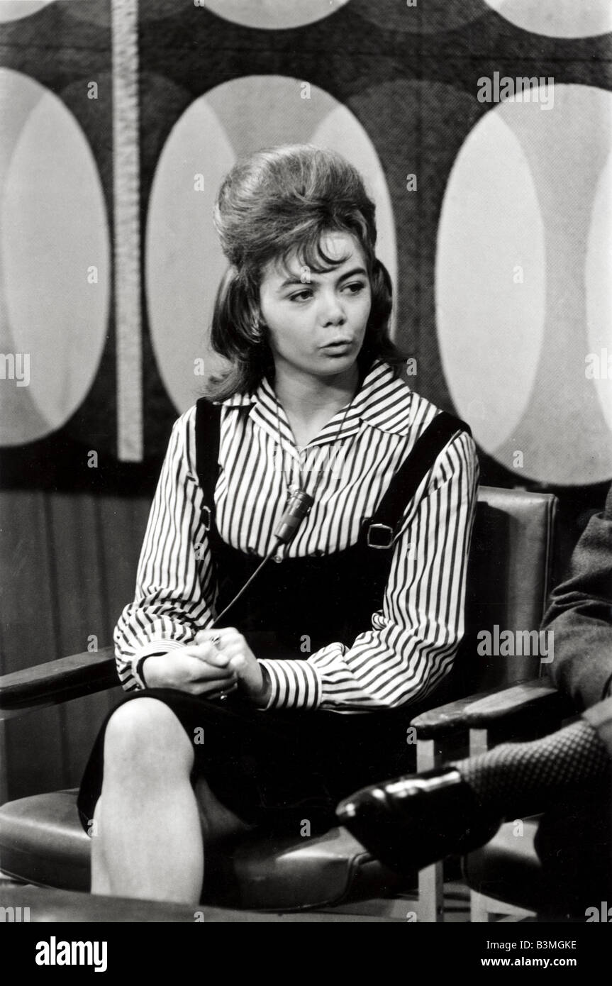 JANICE NICHOLLS  Record reviewer on the UK TV series Thank Your Lucky Stars about 1964. - Stock Image