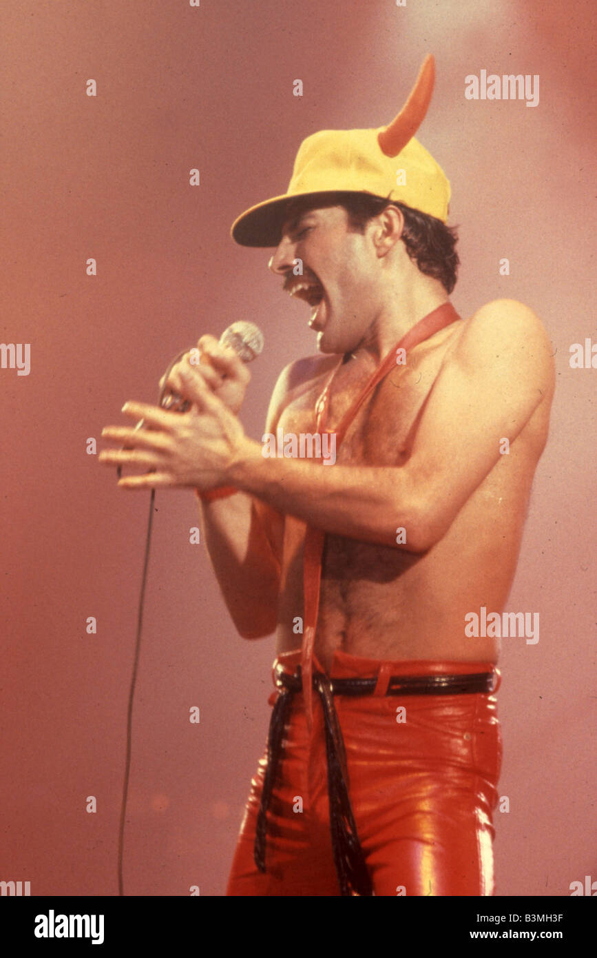 QUEEN  UK rock group with Freddie Mercury - Stock Image