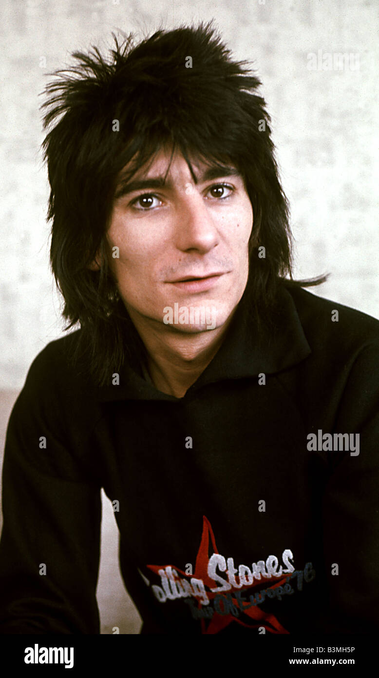 ROLLING STONES - guitarist Ron Wood about 1980 - Stock Image