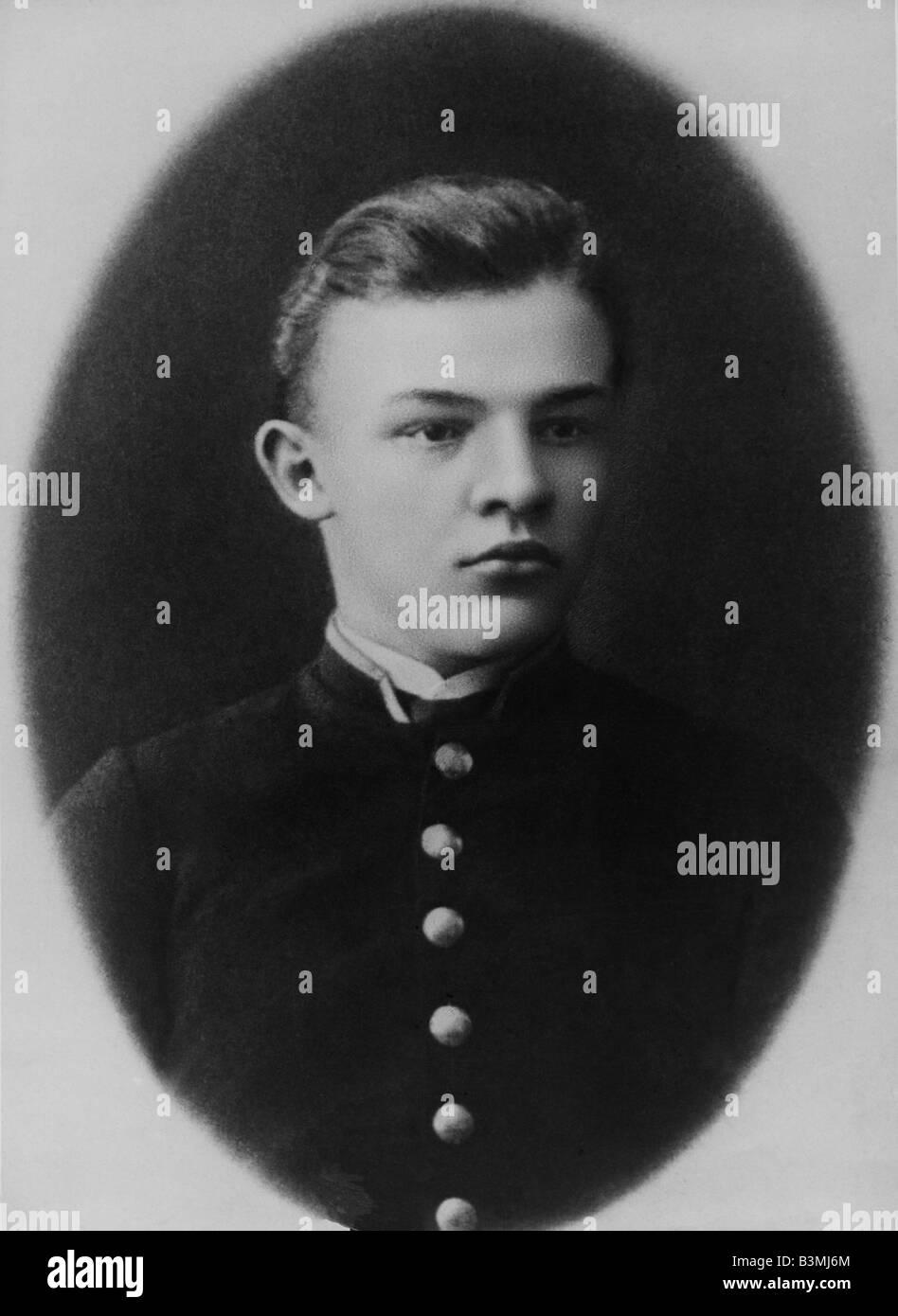 VLADIMIR LENIN Russian revolutionary about 1888 - Stock Image