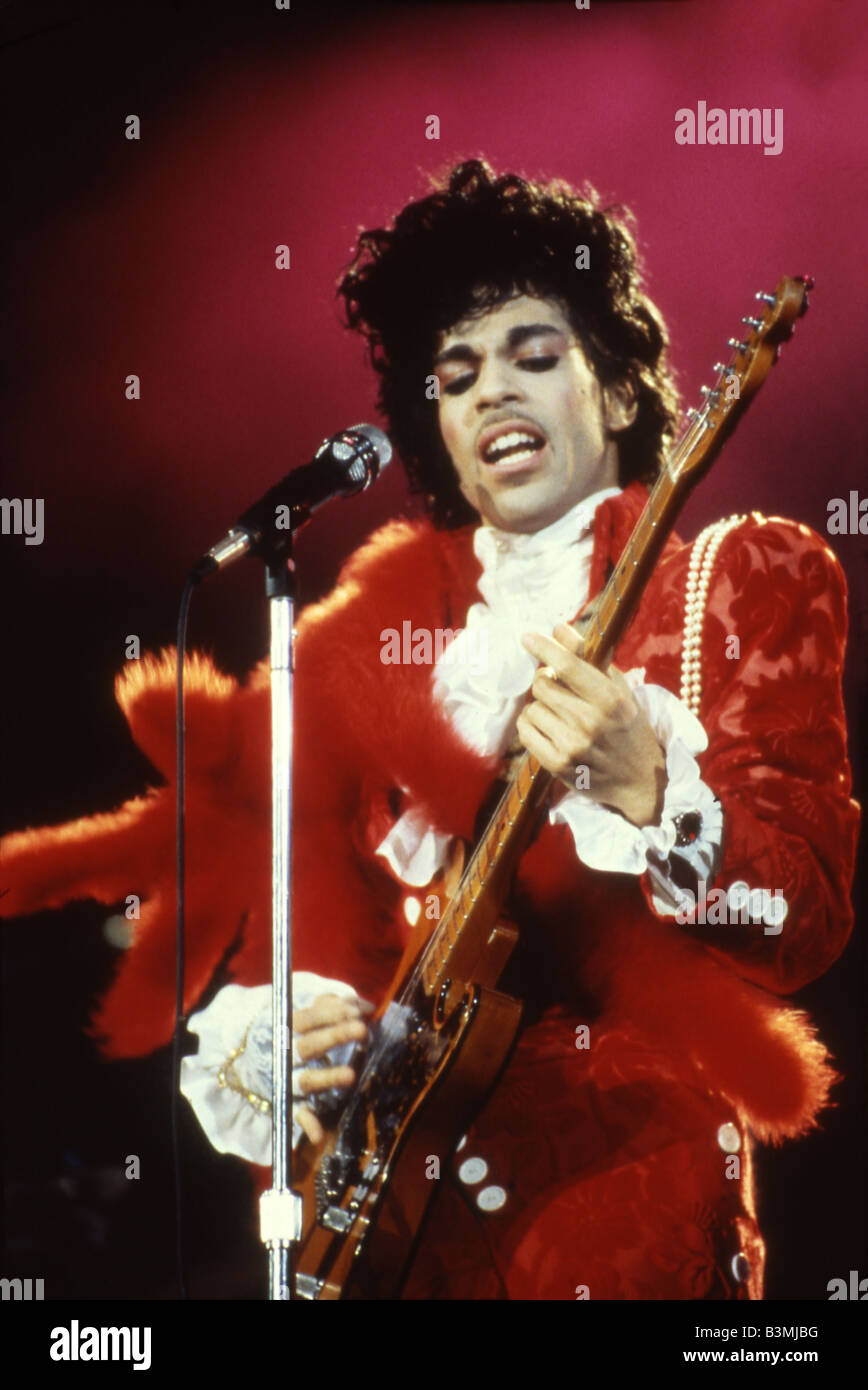 PRINCE US rock musician in 1985 - Stock Image