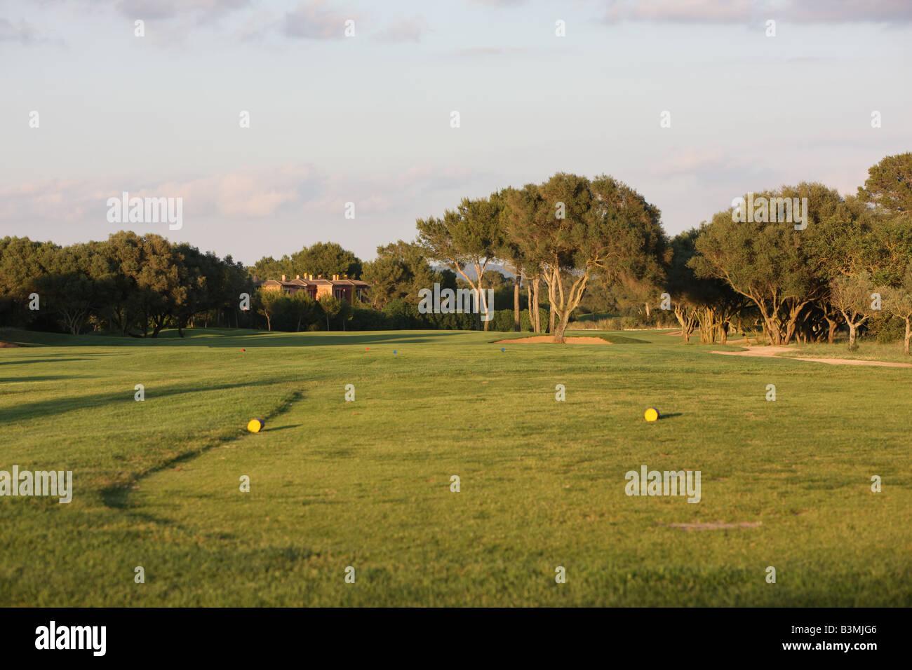 Golf Tee leading on to fairway - Stock Image