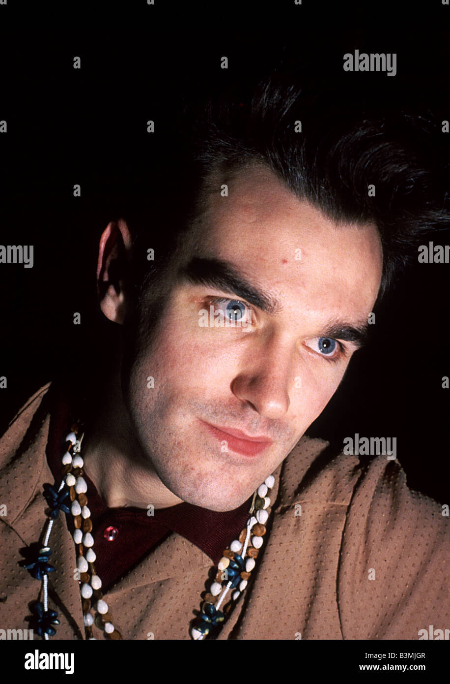 MORRISEY singer with UK rock  group The Smiths about 1986 - Stock Image