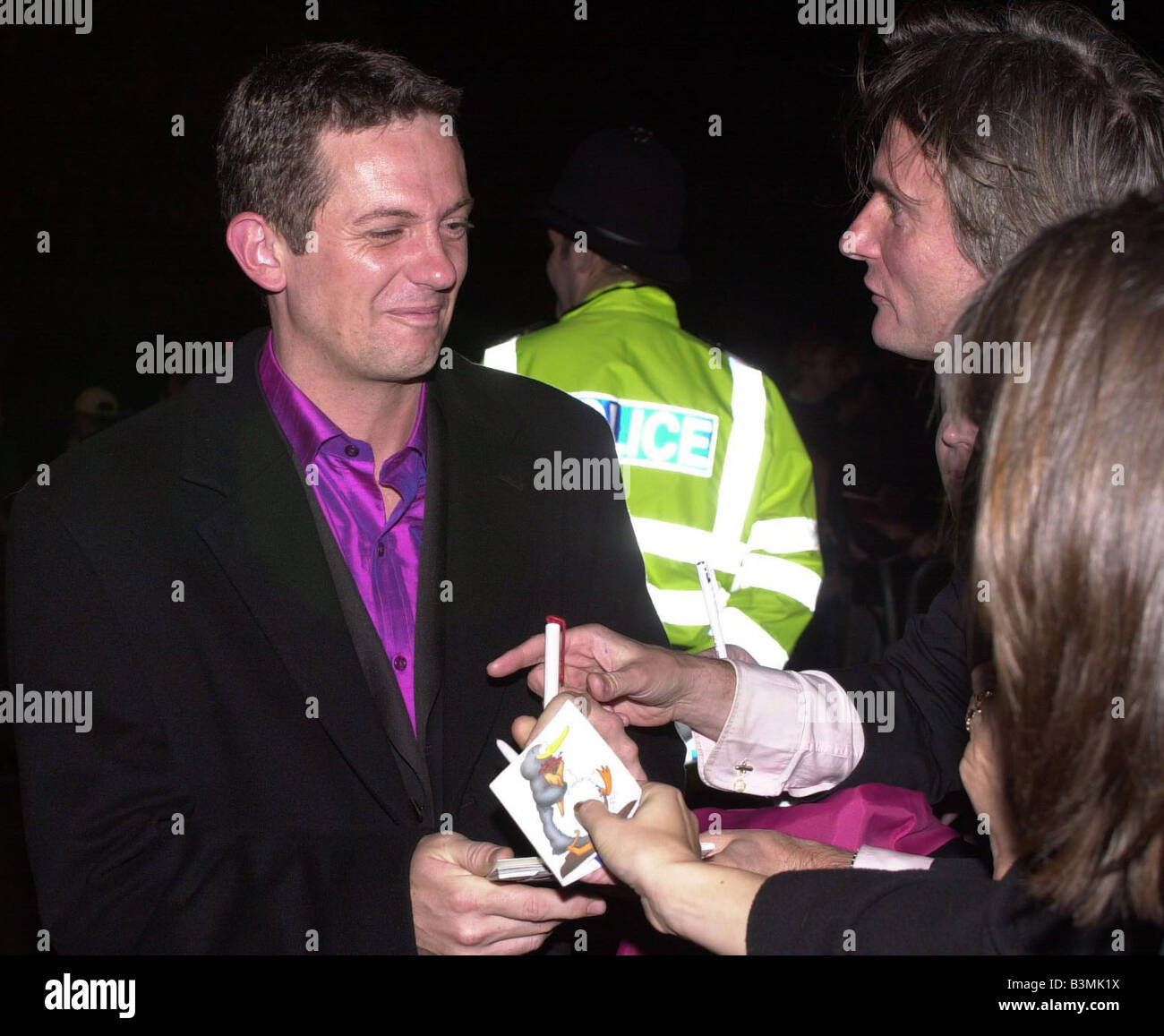 National TV Awards October 2001 Matthew Wright TV Presenter Leaving the party at RCA Matthew Wright The Wright Stuff - Stock Image
