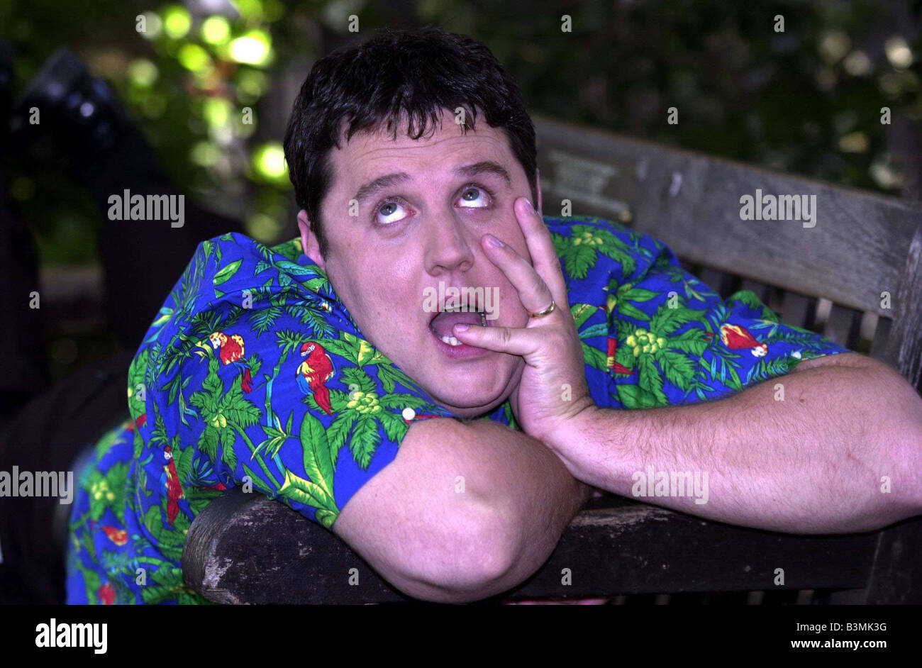 Comedian Peter Kay pictured in London July 2002 Mirrorpix - Stock Image