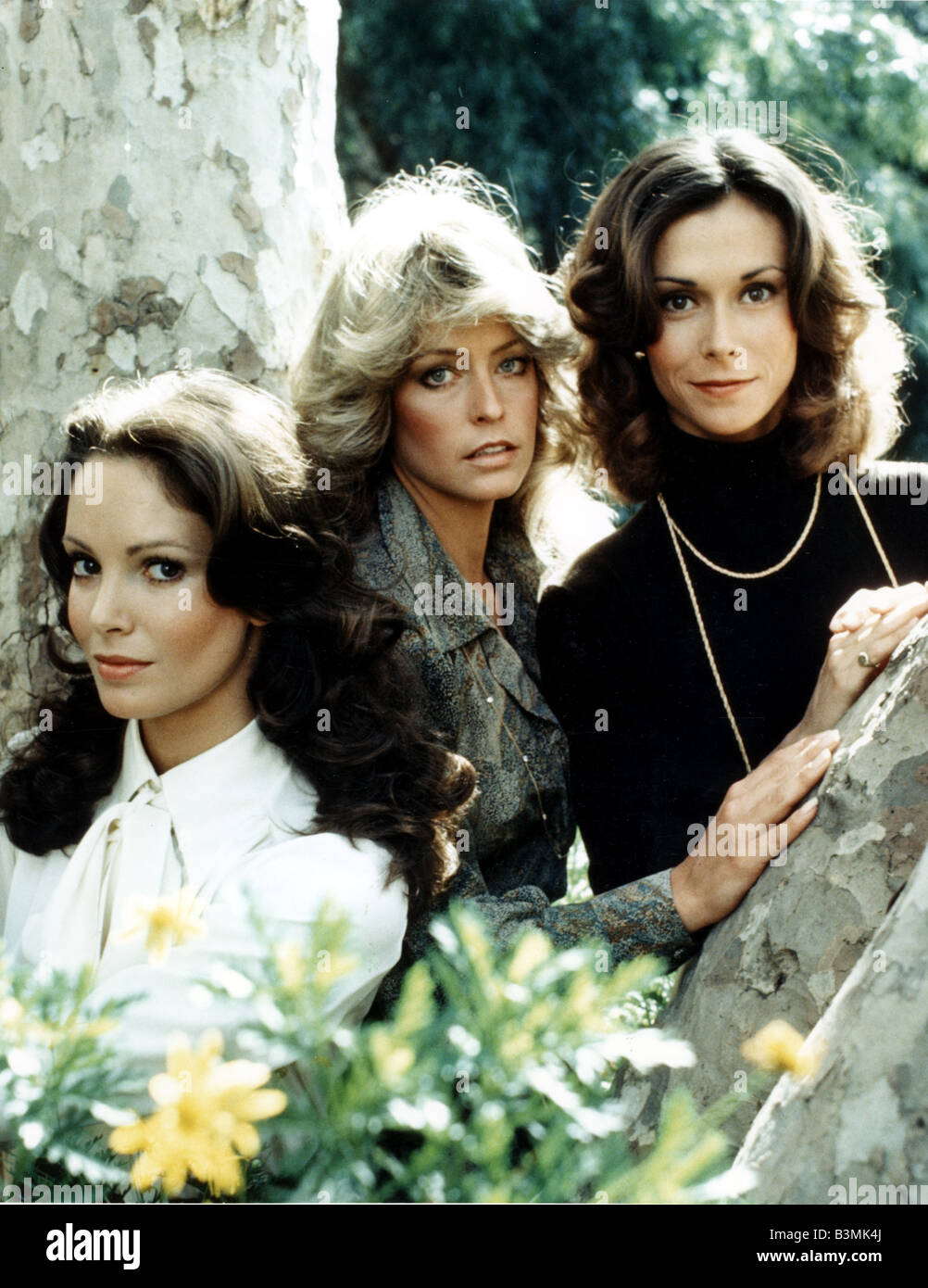 79e6b79a340e6 CHARLIE S ANGELS US TV series with from left Jaclyn Smith and Farrah  Fawcett and Kate Jackson