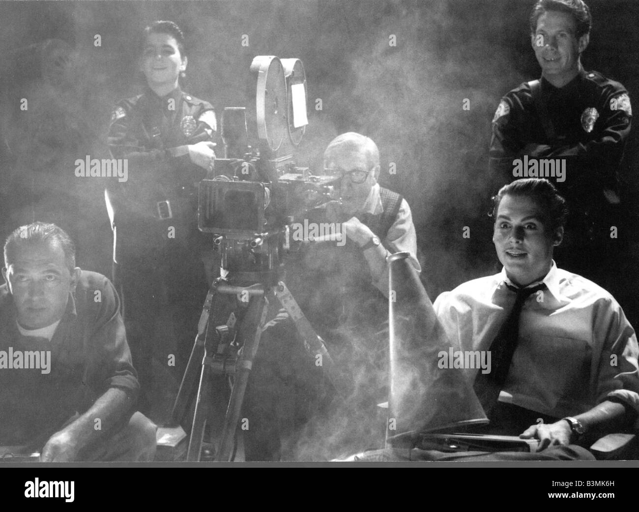 ED WOOD  1994 Buena Vista film with Johnny Depp at right - Stock Image