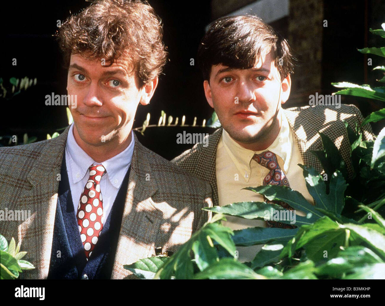 Stephen Fry television comedian entertainer and writer with partner Hugh Laurie mirrorpix - Stock Image