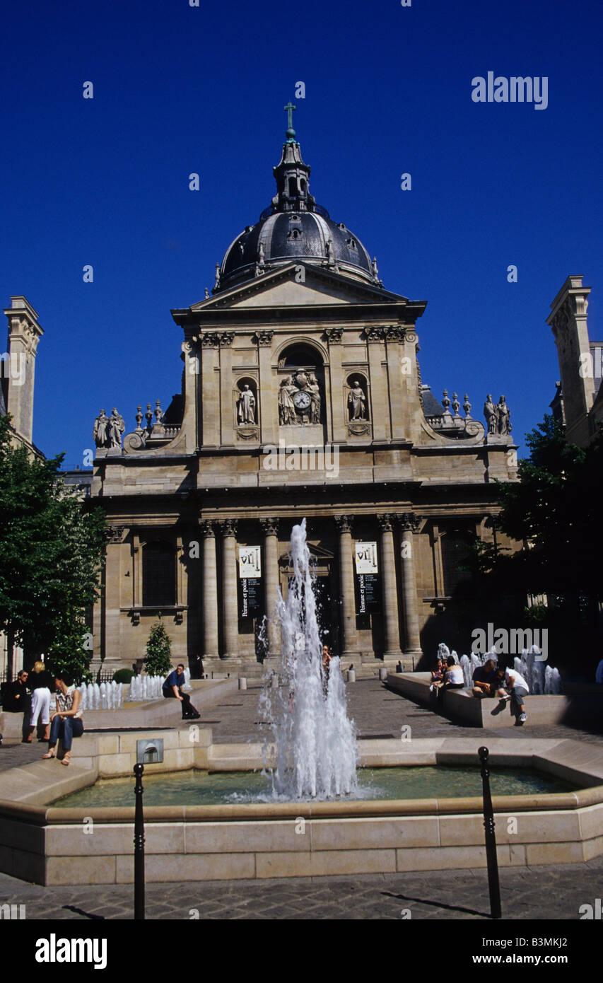 France Paris The Sorbonne is the best known university in Paris - Stock Image