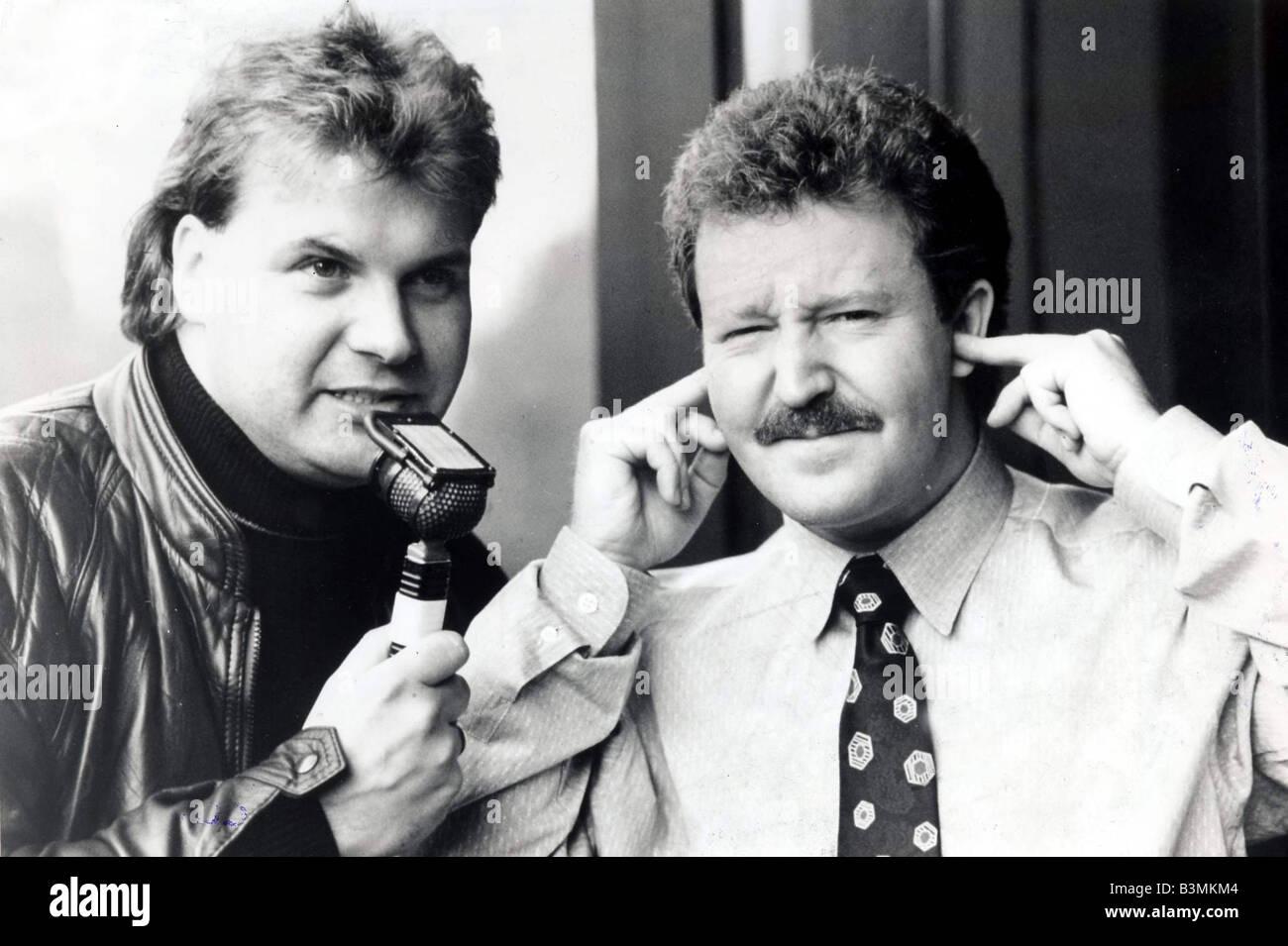 Derek Johnstone 1990 With Jonathan Watson comedian mirrorpix - Stock Image