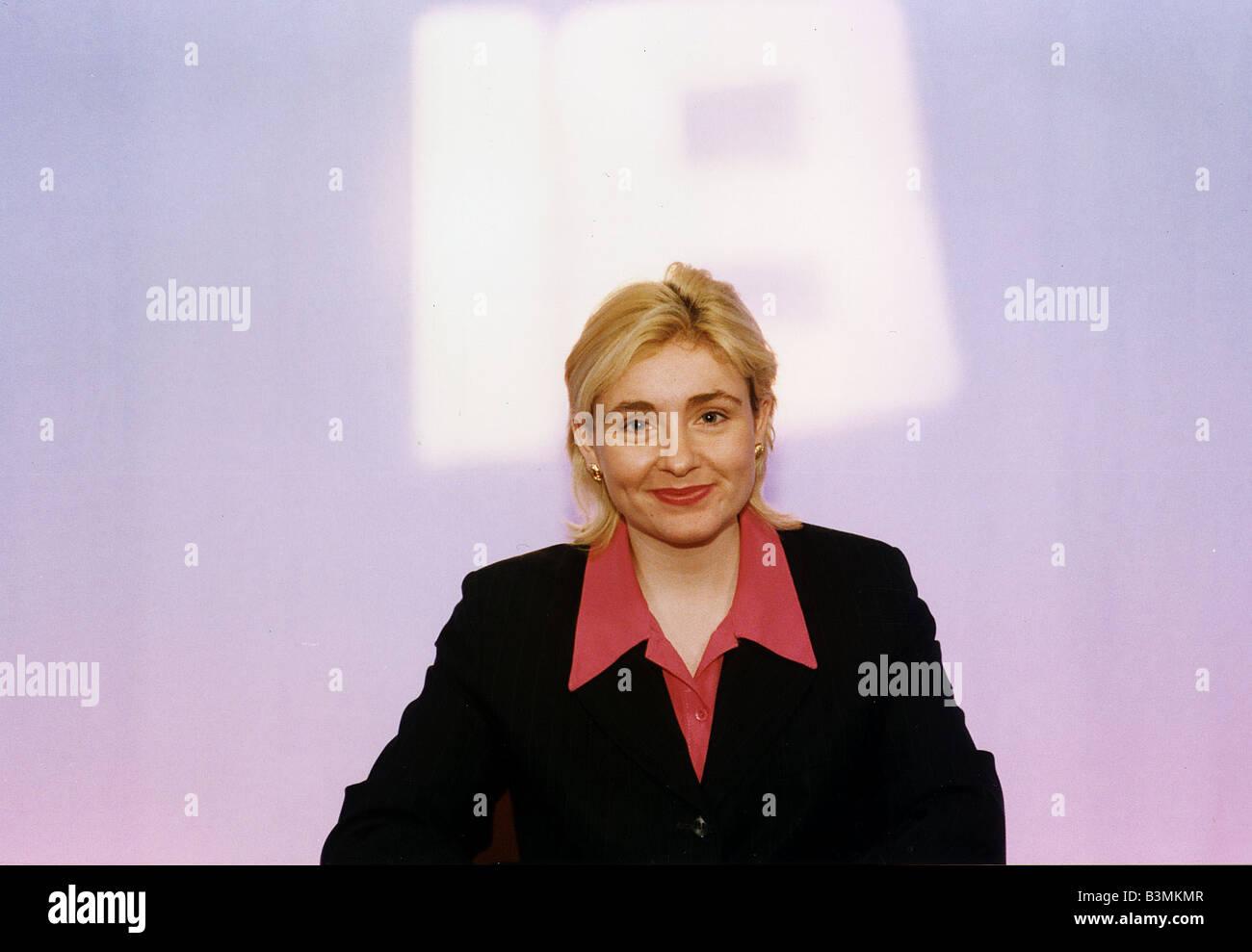 Gina Davidson news TV presenter on Edinburgh Live TV Stock