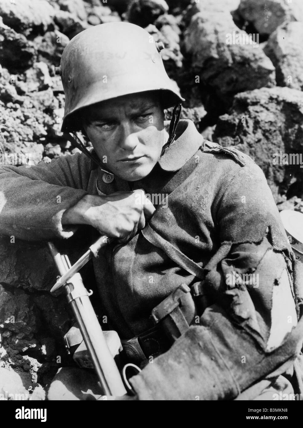 ALL QUIET ON THE WESTERN FRONT 1930 Universal film with Lew Ayres - Stock Image