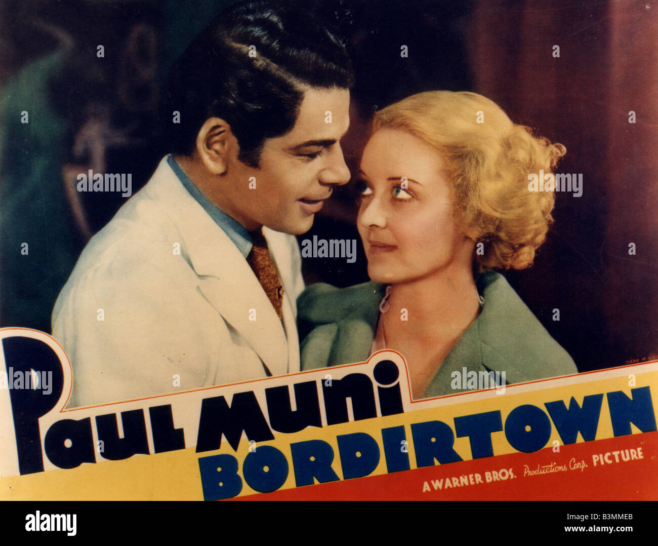Bordertown 1934 Warner Film With Bette Davis And Paul Muni Stock