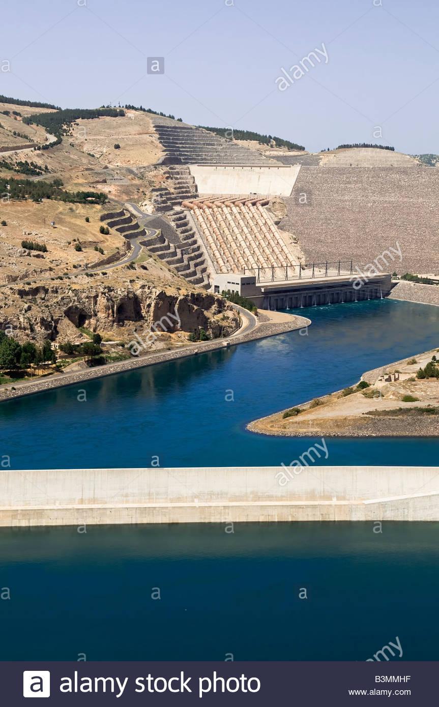 Ataturk Dam Near Adiyaman, Turkey - Stock Image