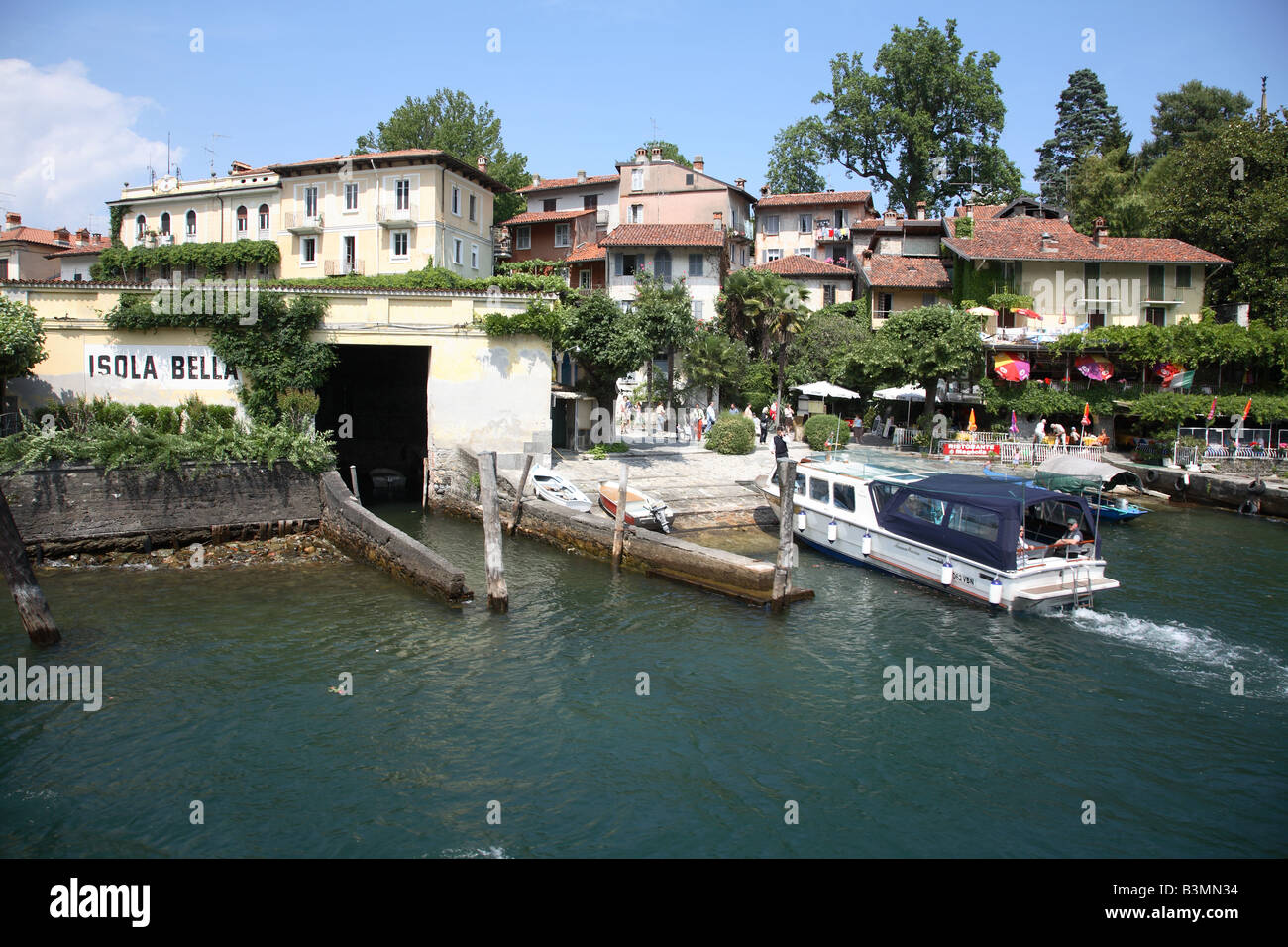 Isola Bella is considered the most picturesque of the Borromean Islands in Lake Maggiore Italy - Stock Image