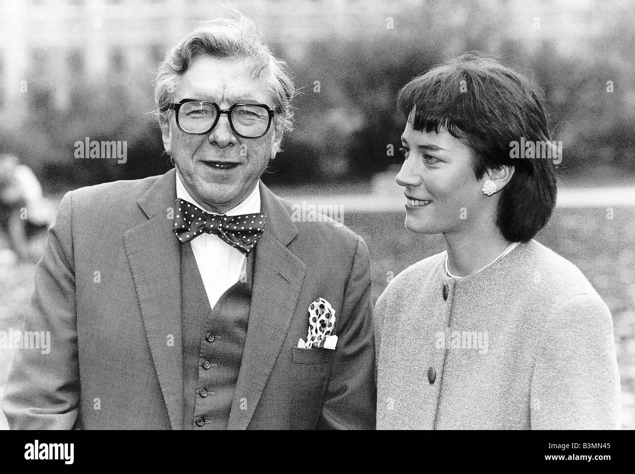 Sir Robin Day Tv Presenter and Broadcaster who will present a new programme with 31 year old Sarah Baxter dbase - Stock Image