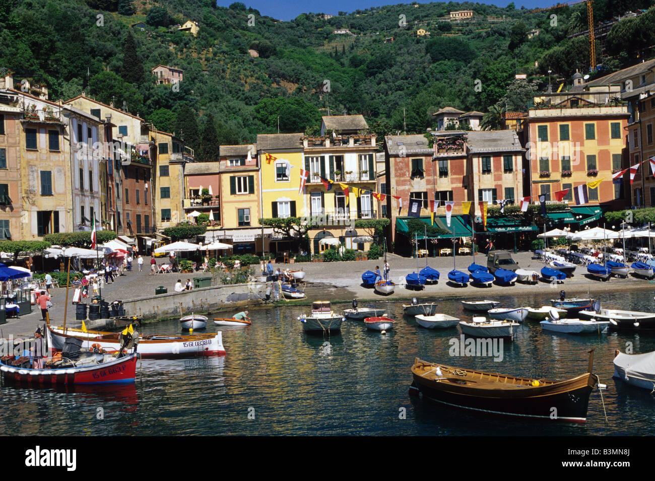 Italy Portofino The picturesque town of Portofino south of Genoa - Stock Image