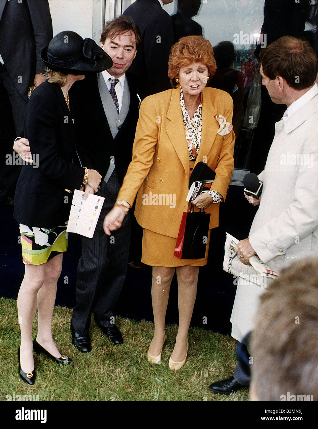 Cilla Black Tv Presenter And Singer With Composer Andrew Lloyd Webber And His Wife Madelaine Lloyd Webber