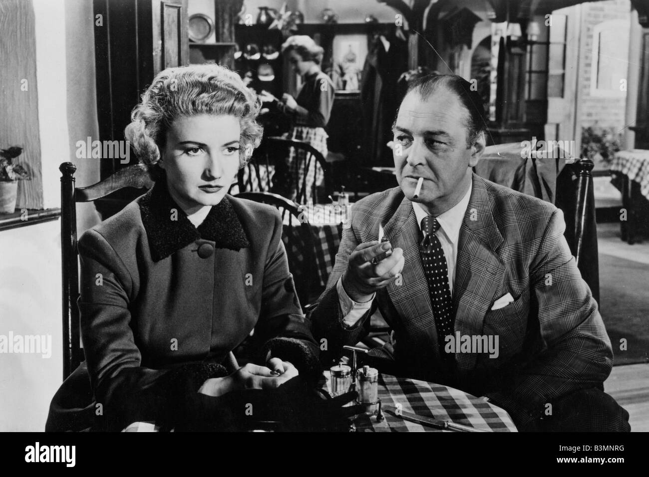THE EMBEZZLER 1954 Kenilworth film with Zena Marshall and Charles Victor - Stock Image