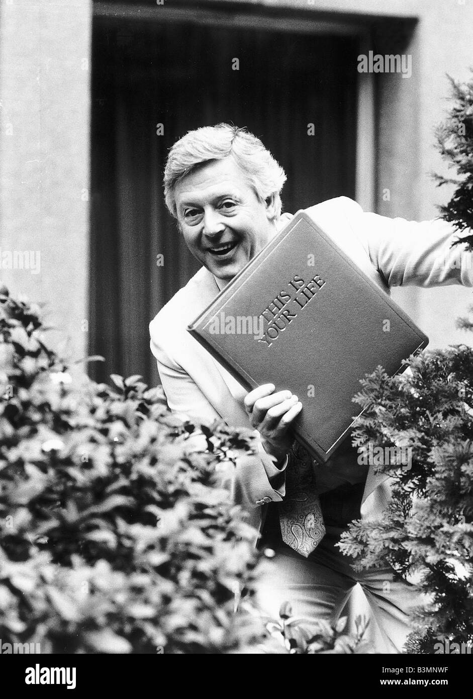 Michael Aspel tv presenter who is to host This Is Your Life - Stock Image