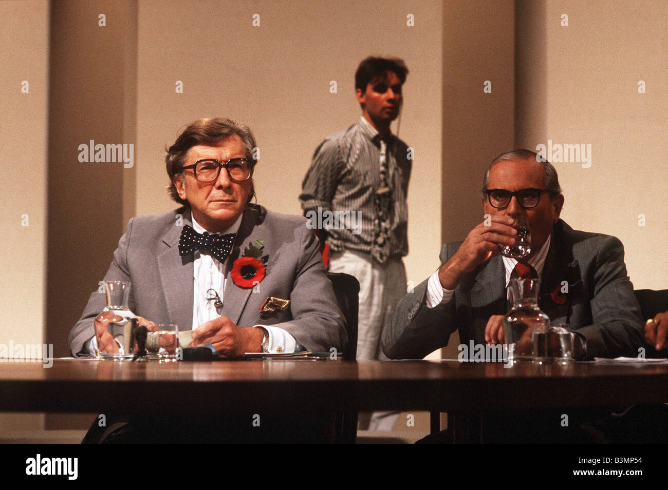 Sir Robin Day TV Presenter of BBC TV Programme Question Time - Stock Image