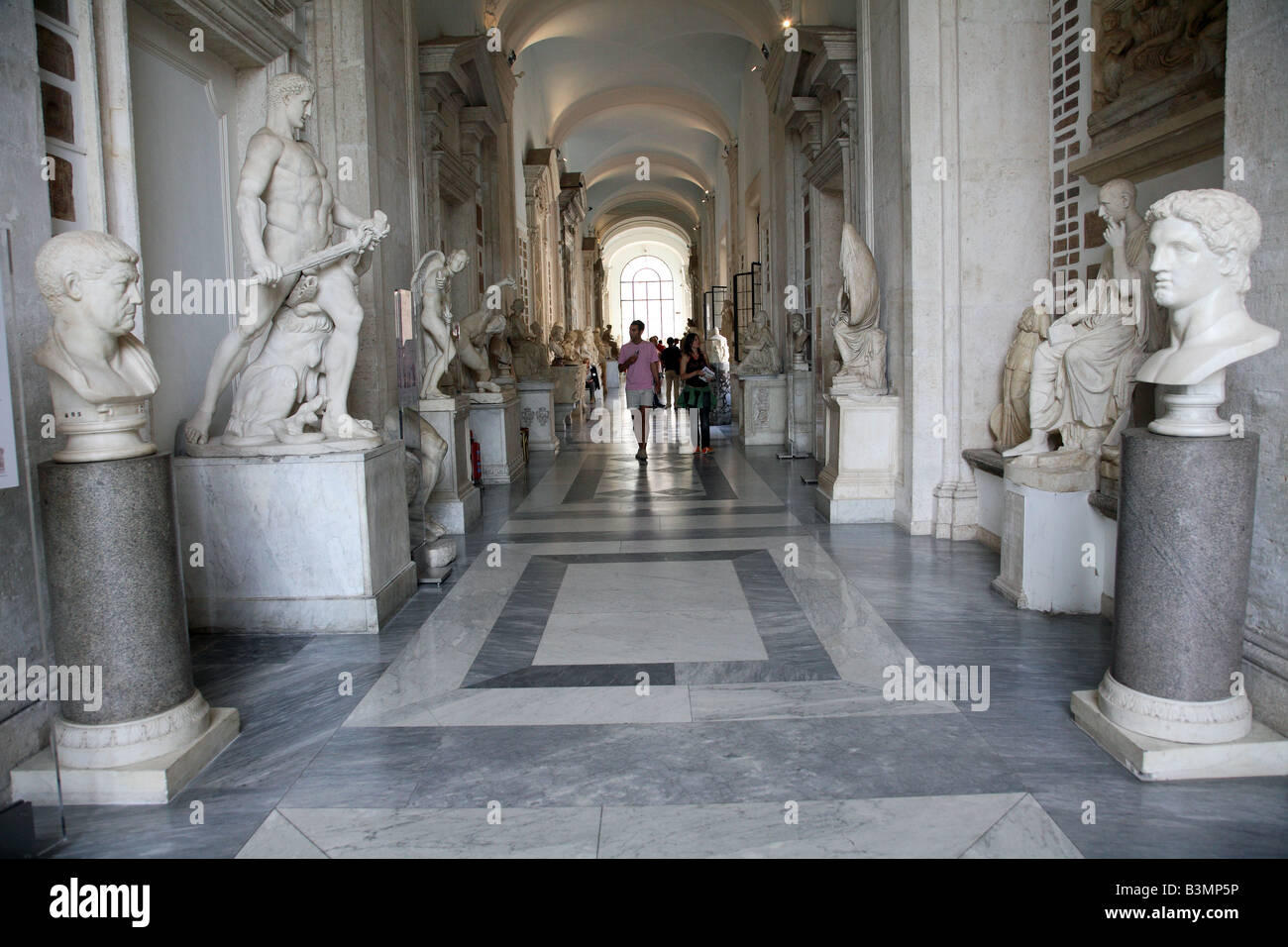 Italy Rome Statues in Capitoline Museum Stock Photo