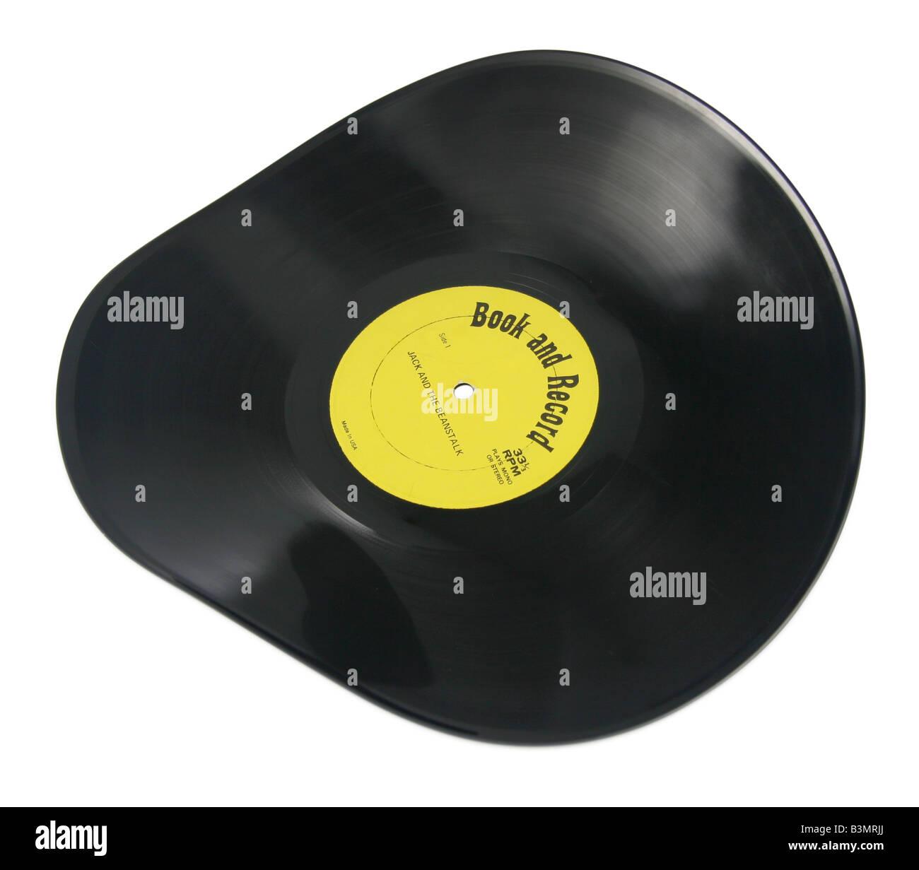 Warped record. - Stock Image