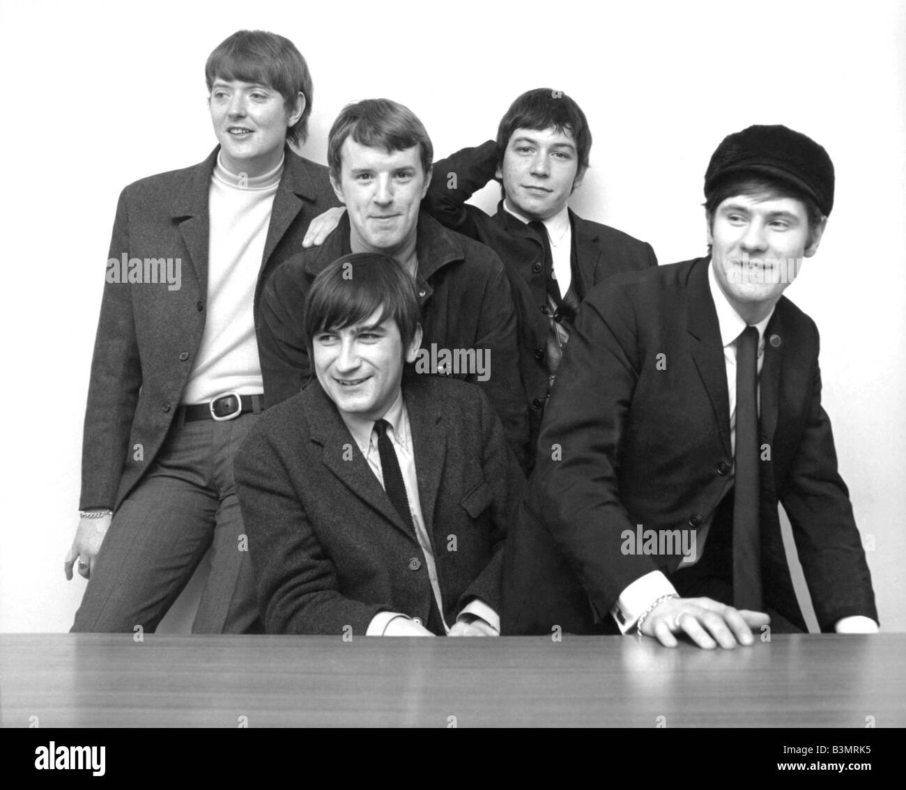 4f60343af THE ANIMALS UK pop group in February 1966 with Chas Chandler at left and  Ertic Burdon