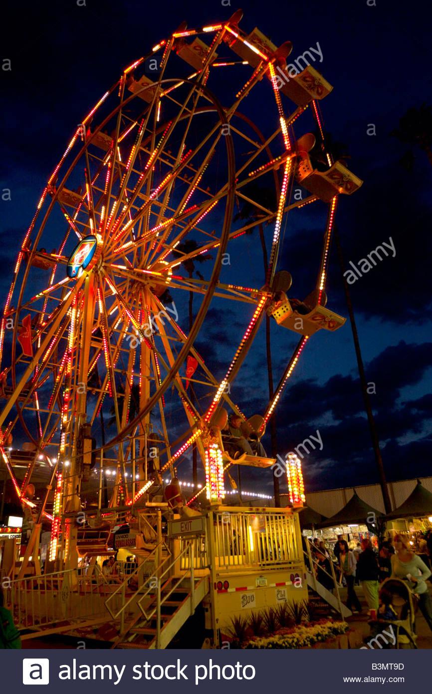 Ferris Wheel LA County Fair California - Stock Image