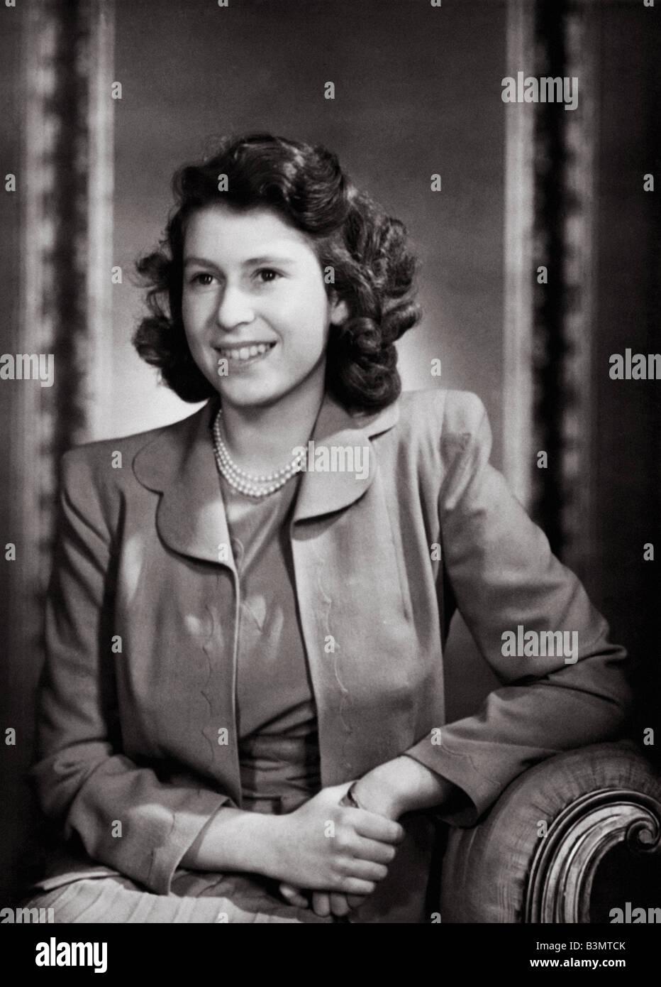 PRINCESS ELIZABETH (later Queen Elizabeth II) about 1945 - Stock Image