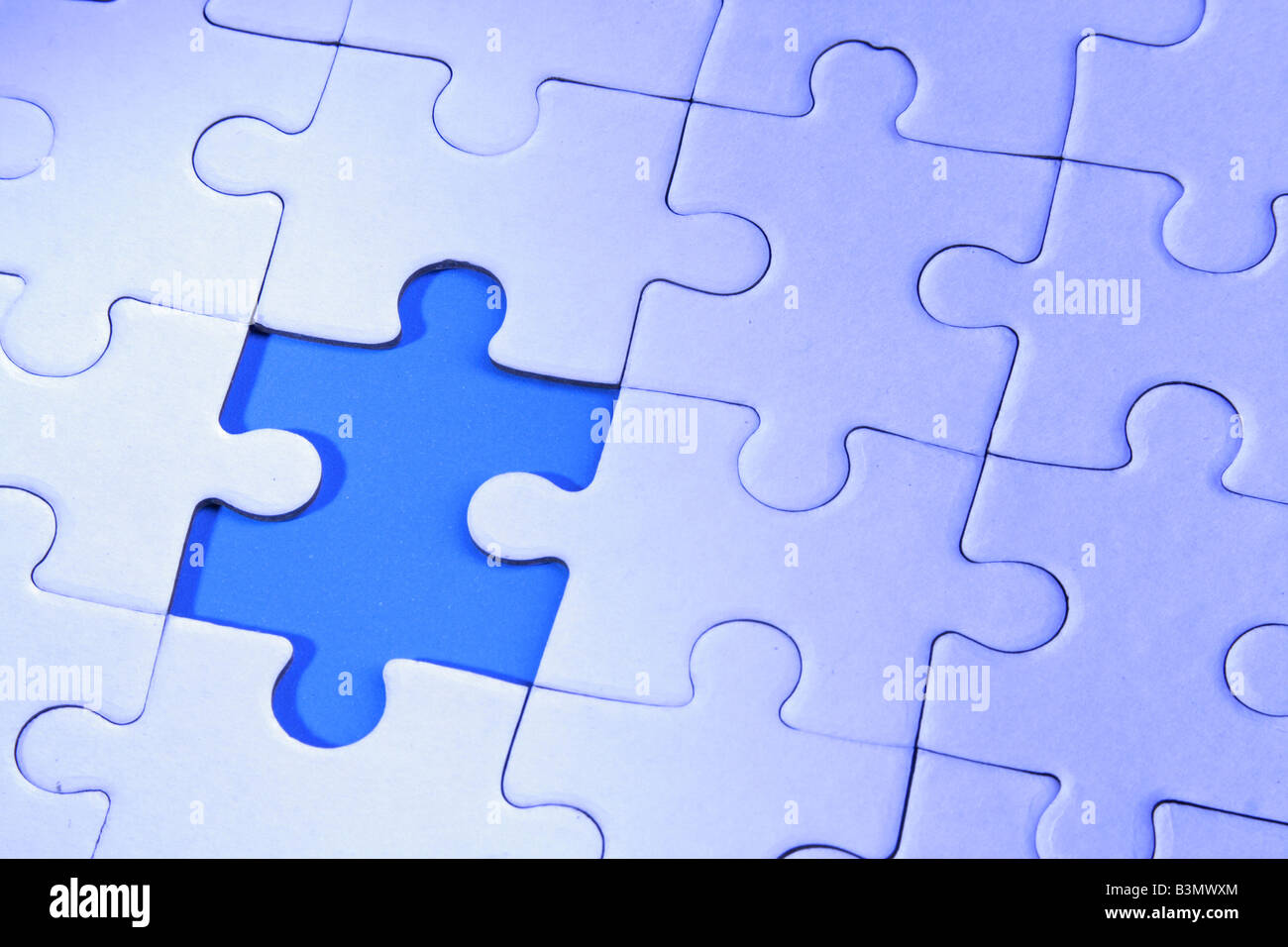 A jigsaw puzzle makes a good metaphor for any problem to solve - Stock Image