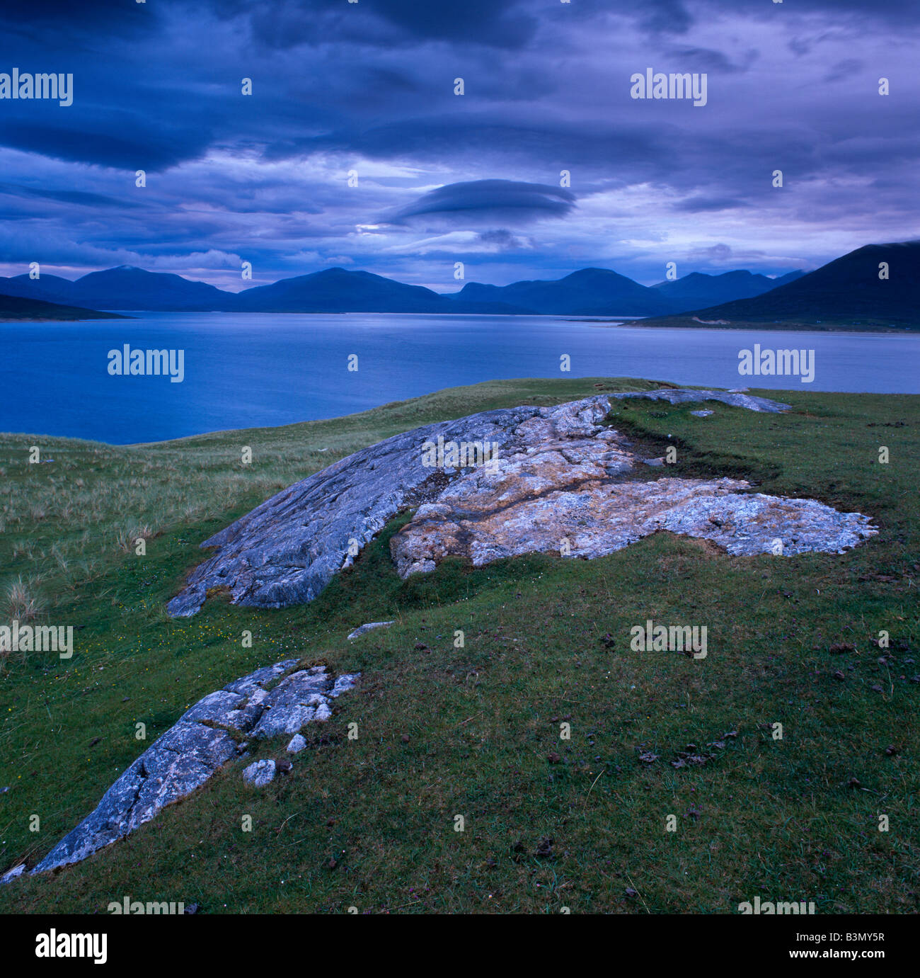 View across the Sound of Taransay from the Isle of Harris, Western Isles, Scotland - Stock Image