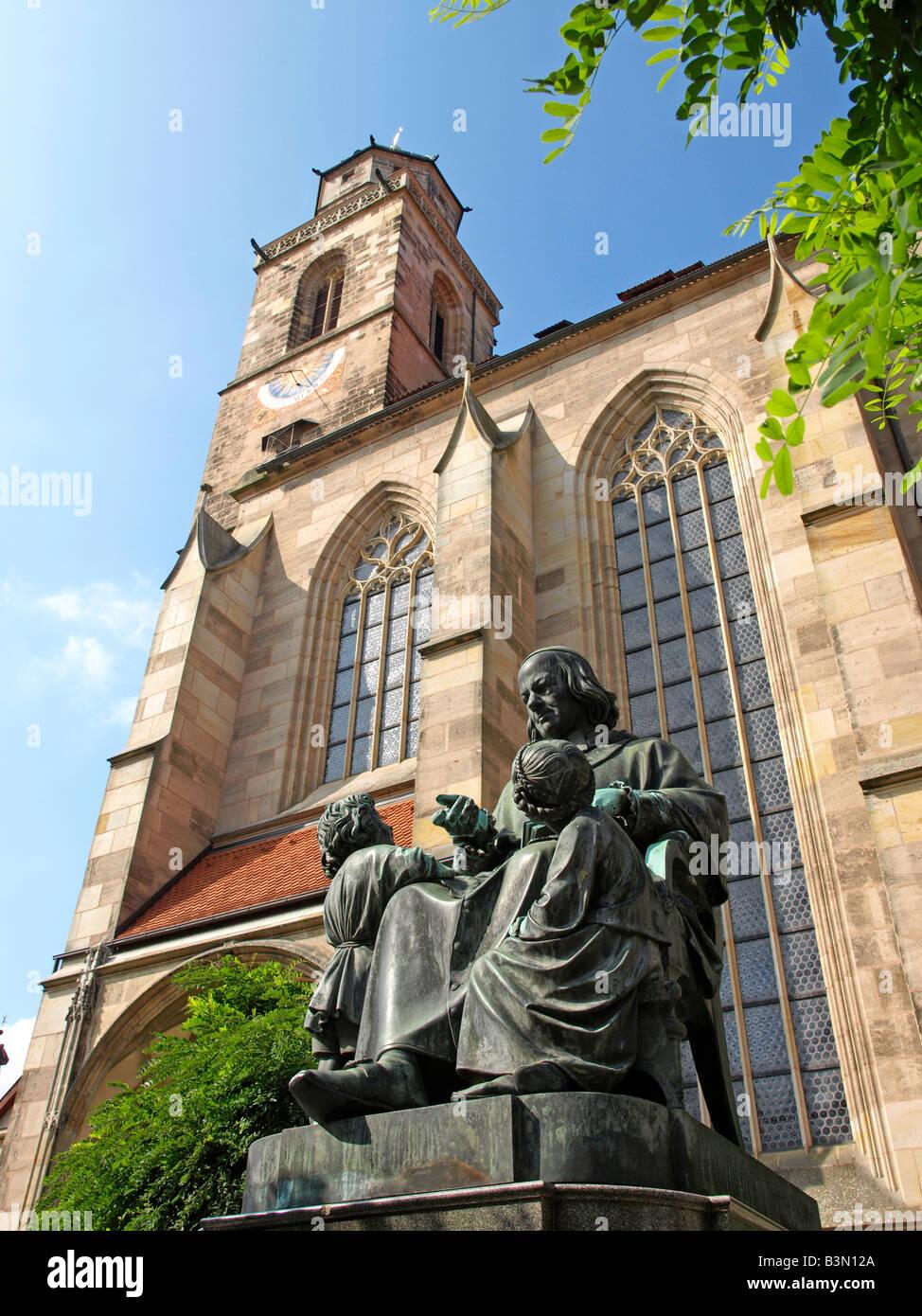 Deutschland, Bayern, Dinkelsbuehl, Old town of Dinkelsbuehl, Bavaria, Germany - Stock Image
