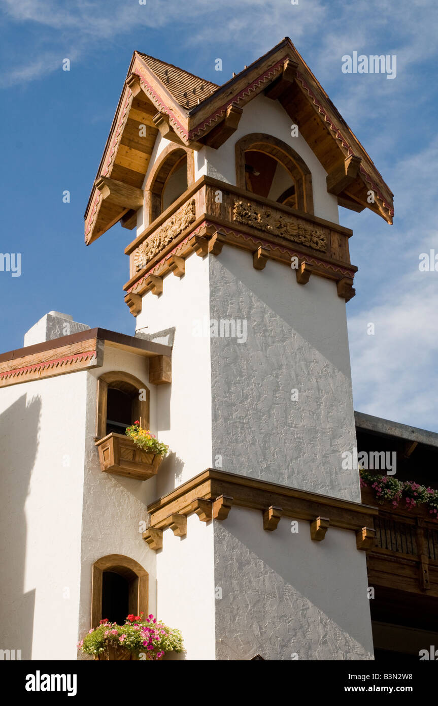 Bell tower Vail, Colorado - Stock Image