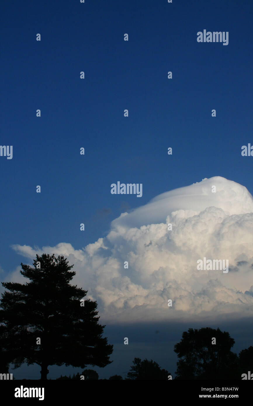 Thunderstorm clouds North America - Stock Image