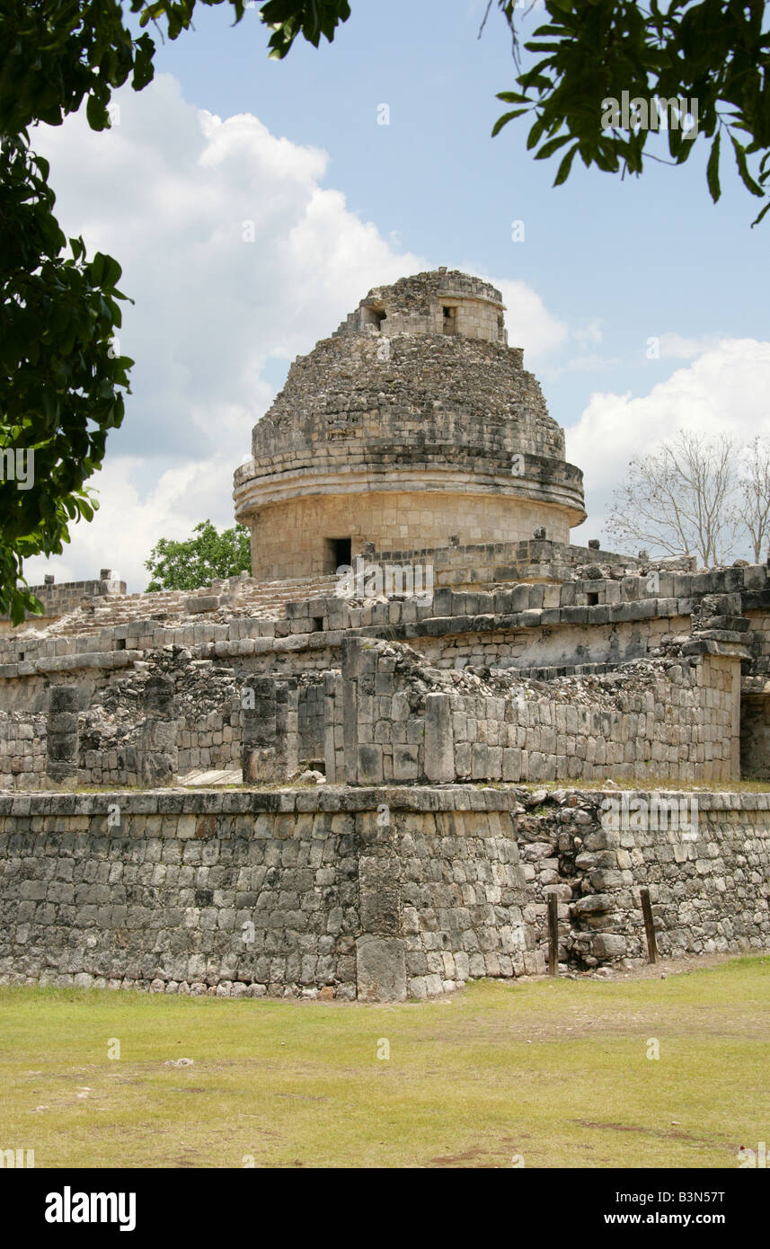 The Caracol also Called the Observatory, Chichen Itza, Yucatan Peninsular, Mexico Stock Photo