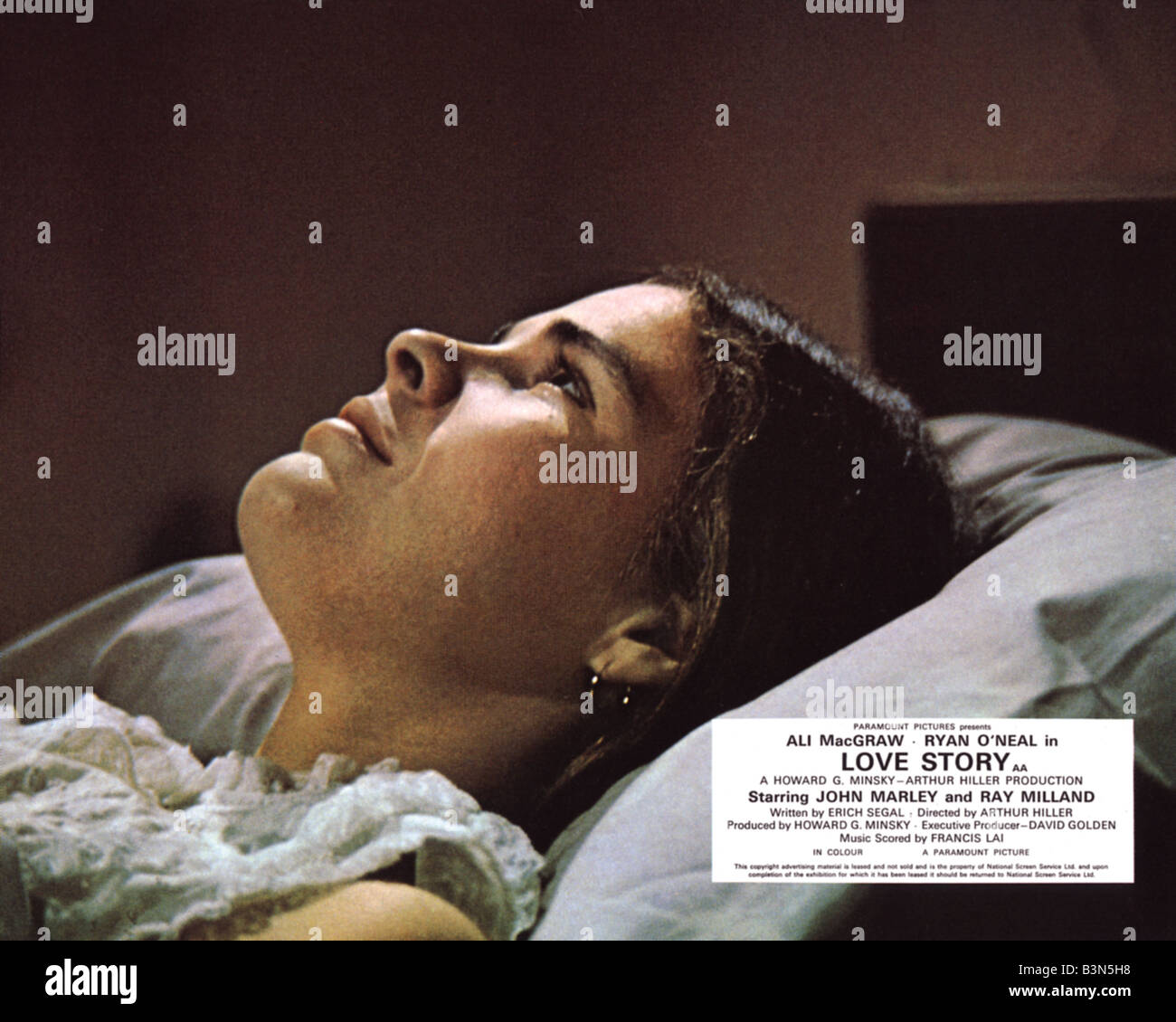 LOVE STORY  1970 Paramount film with Ali MacGraw - Stock Image
