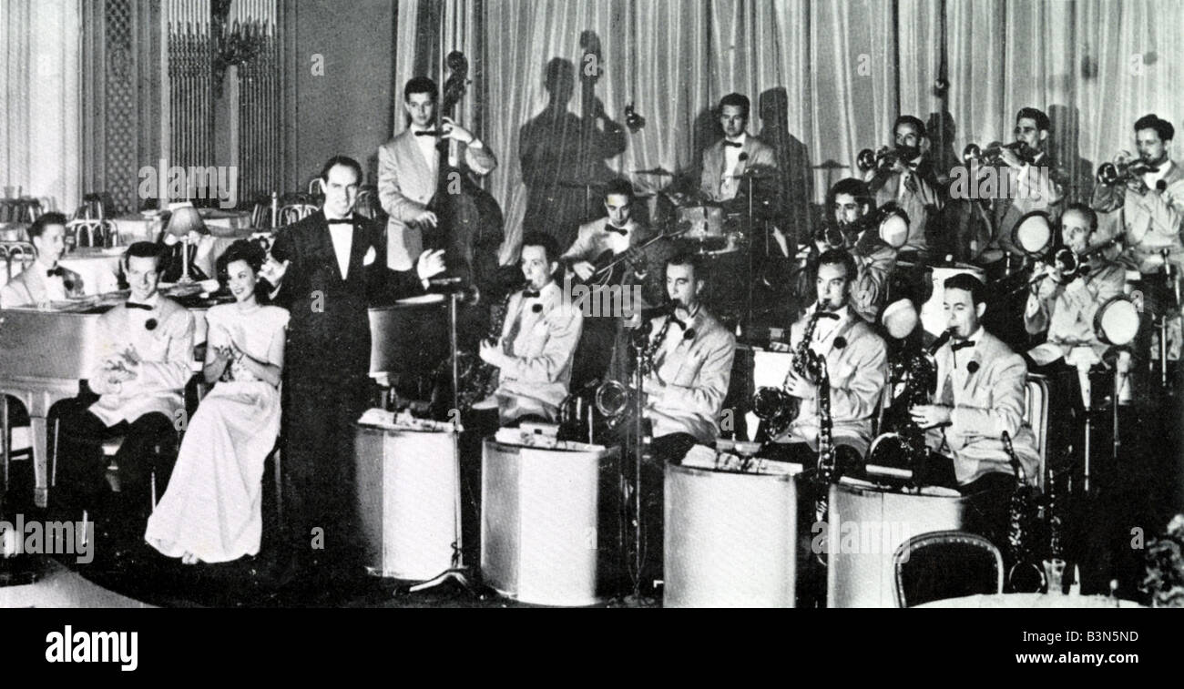 DEL COURTNEY ORCHESTRA  US big band of the 30s and 40s - Stock Image
