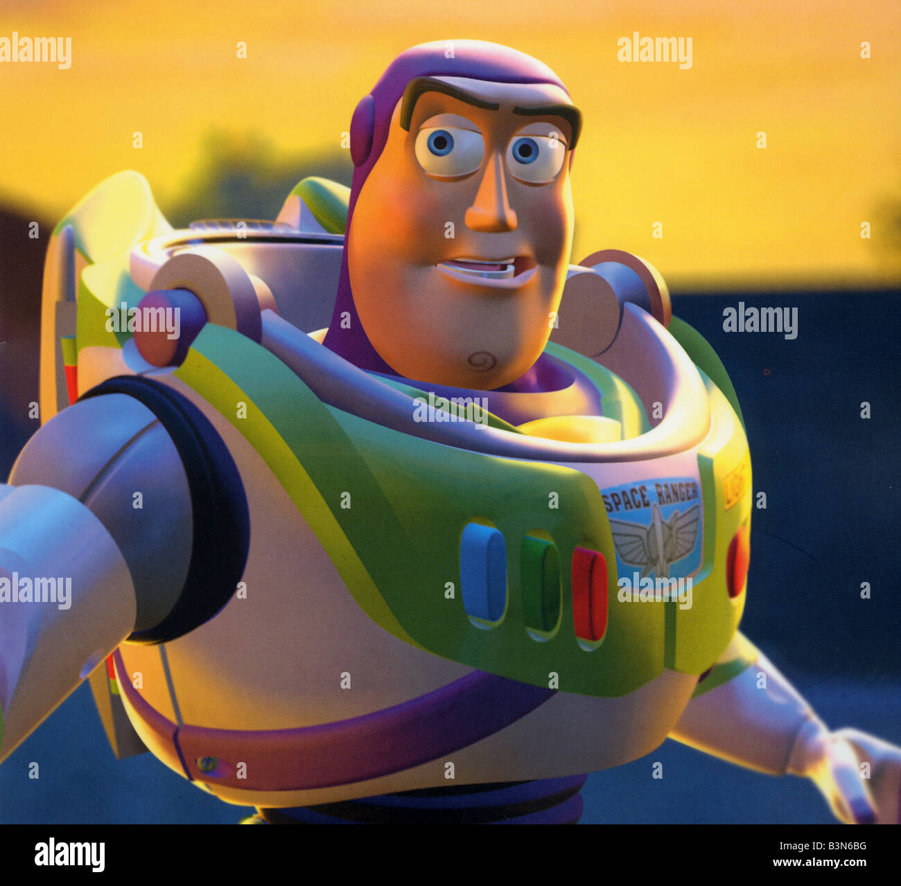 TOY STORY 1995 Buena Vista/Walt Disney/Pixar animated film with Buzz Lightyear voiced by Tim Allen - Stock Image