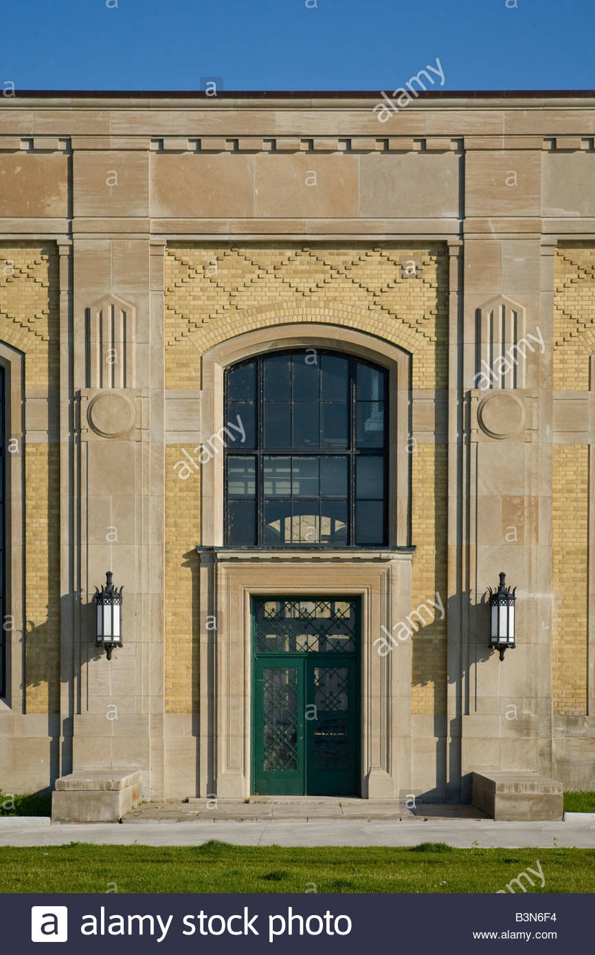 R C Harris water treatment plant in Art Deco style a national historic civil engineering site in Toronto Ontario Stock Photo
