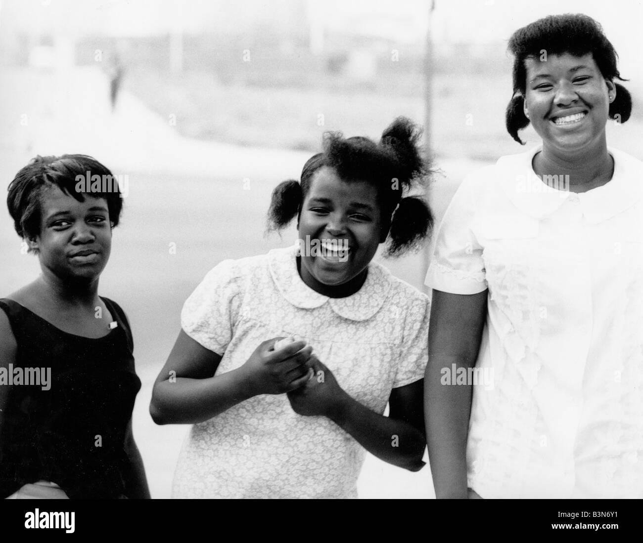 HAPPY GIRLS  Louisiana about 1980 - Stock Image